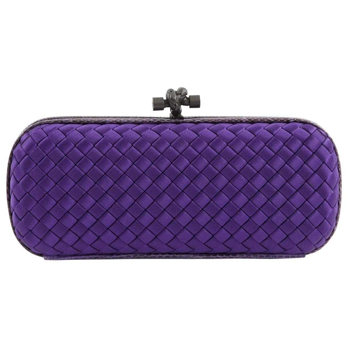 270d1df74c37 Lyst - Bottega Veneta Pre-owned Pochette Knot Clutch Bag in Purple