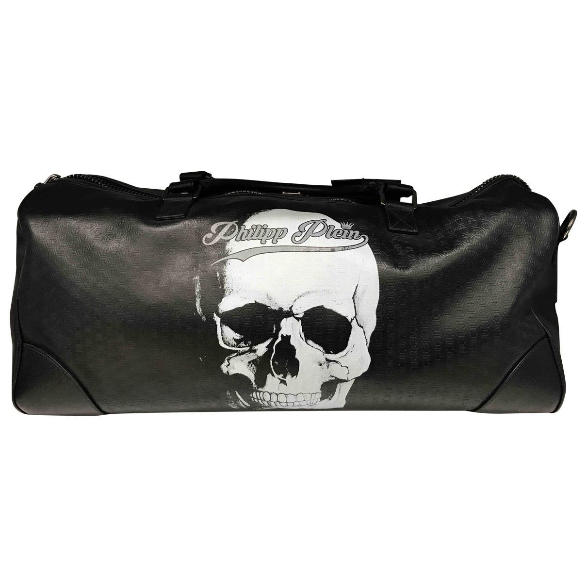 ff129db5da Philipp Plein Leather Travel Bag in Black for Men - Lyst