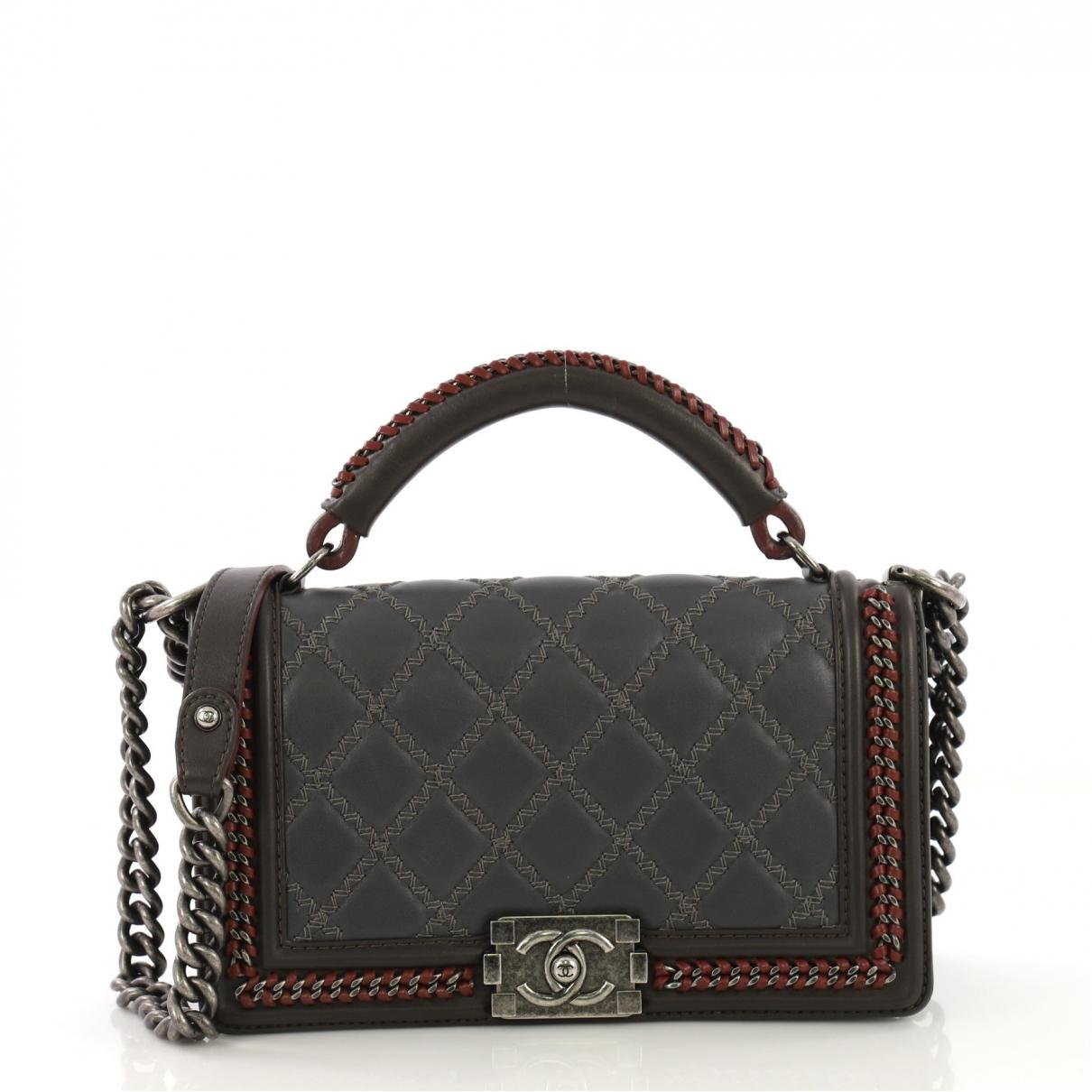 ae38dcd86980 Chanel. Women's Gray Pre-owned Boy Grey Leather Handbags. $5,625 From Vestiaire  Collective