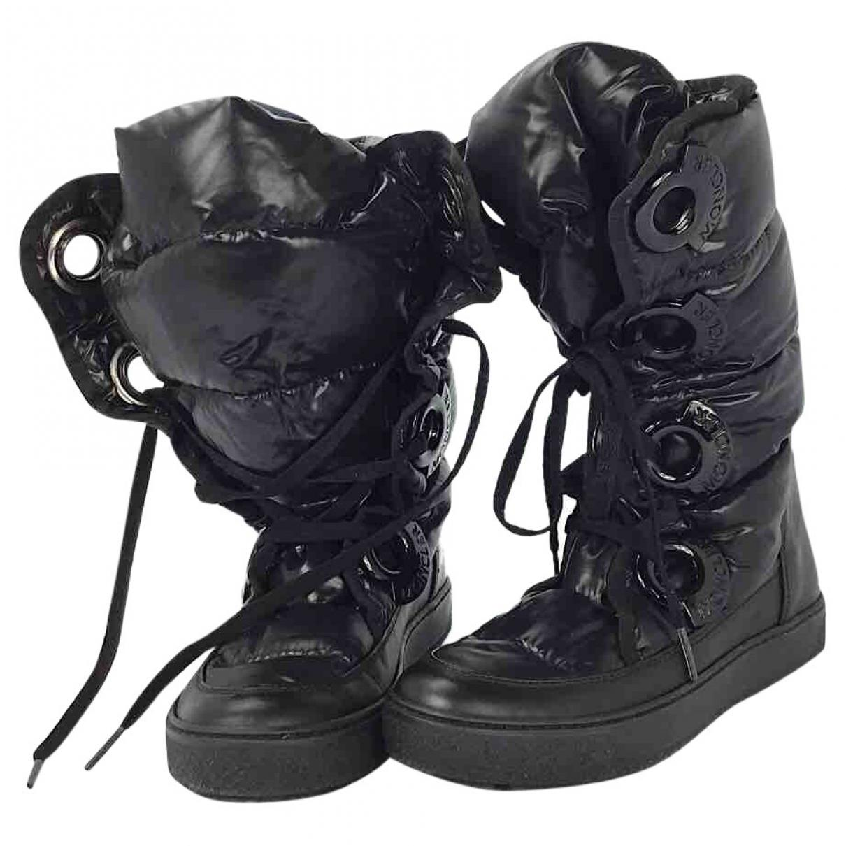 51c734e51e70 Lyst - Moncler Pre-owned Snow Boots in Black