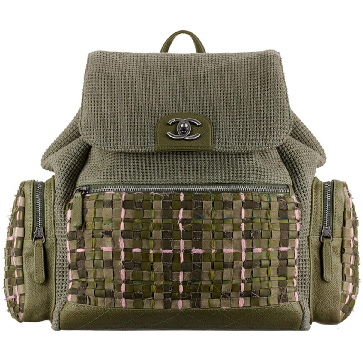 0465ec048d5b55 Chanel. Women's Green Khaki Tweed Backpacks. $4,264 From Vestiaire  Collective