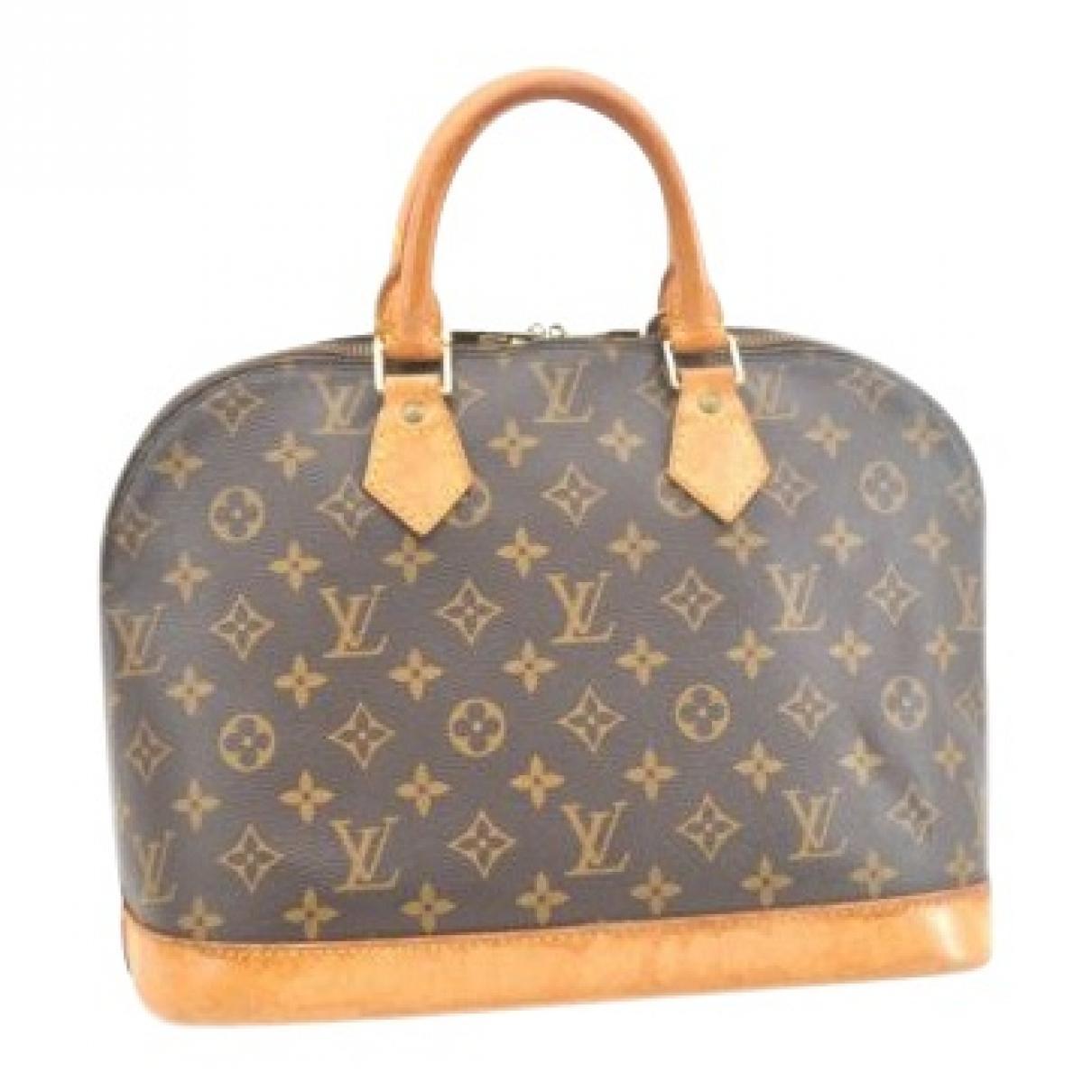 c07b083101 Louis Vuitton Alma Cloth Handbag in Brown - Lyst