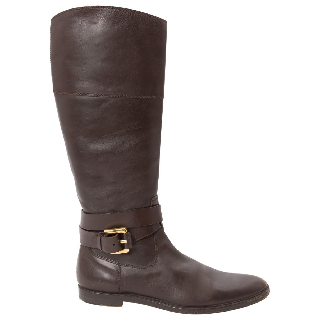 Pre-owned - Leather riding boots Burberry dLxfyCez