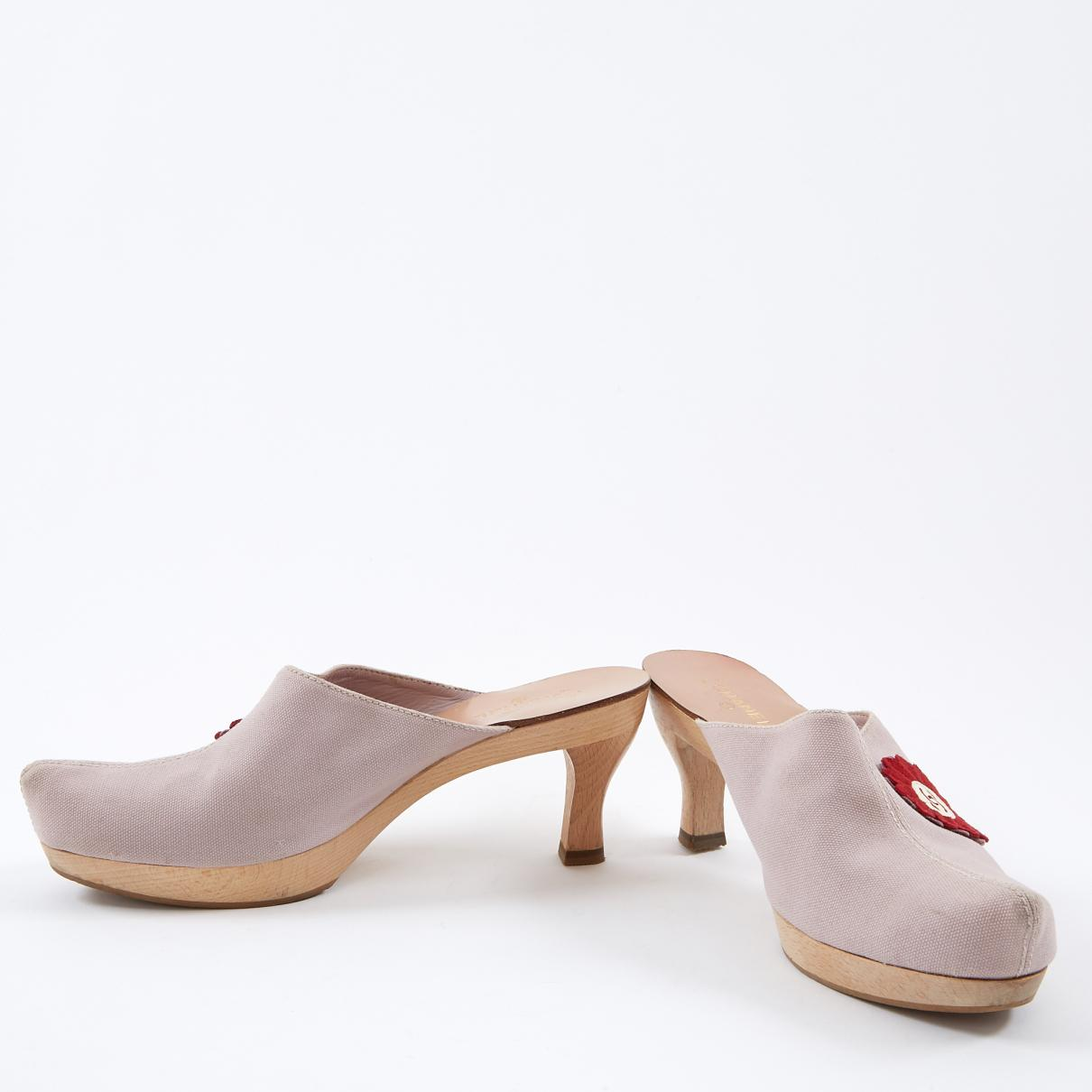 4ace3131b53 Chanel Pink Cloth Mules   Clogs in Pink - Lyst