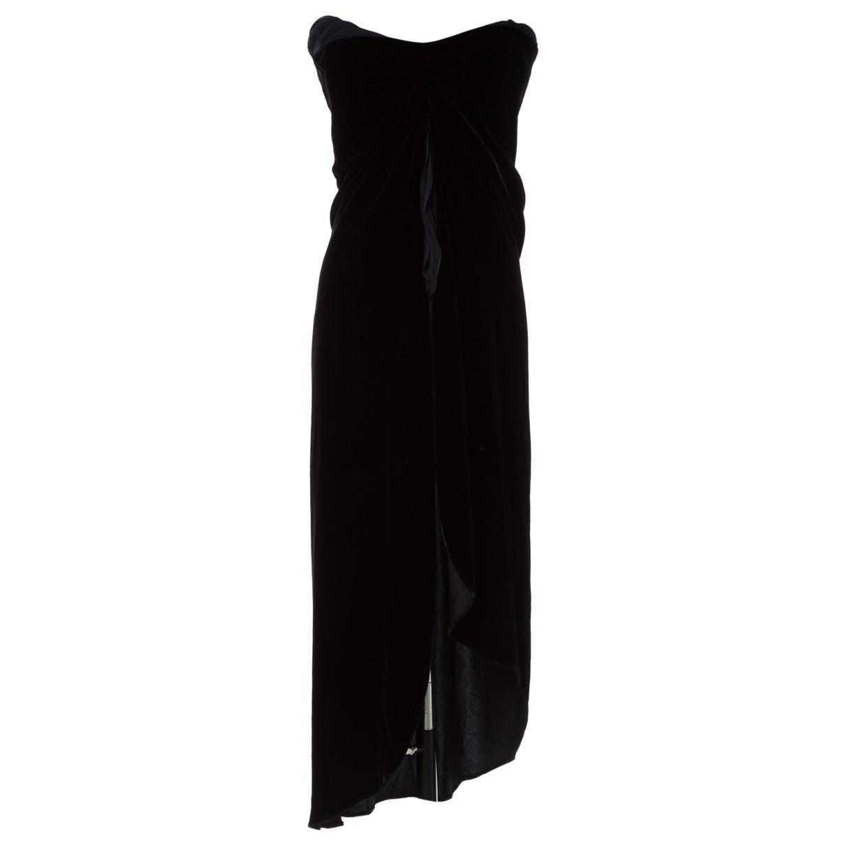 2af1a2d320 Lyst - Ralph Lauren Collection Black Velvet Dress in Black