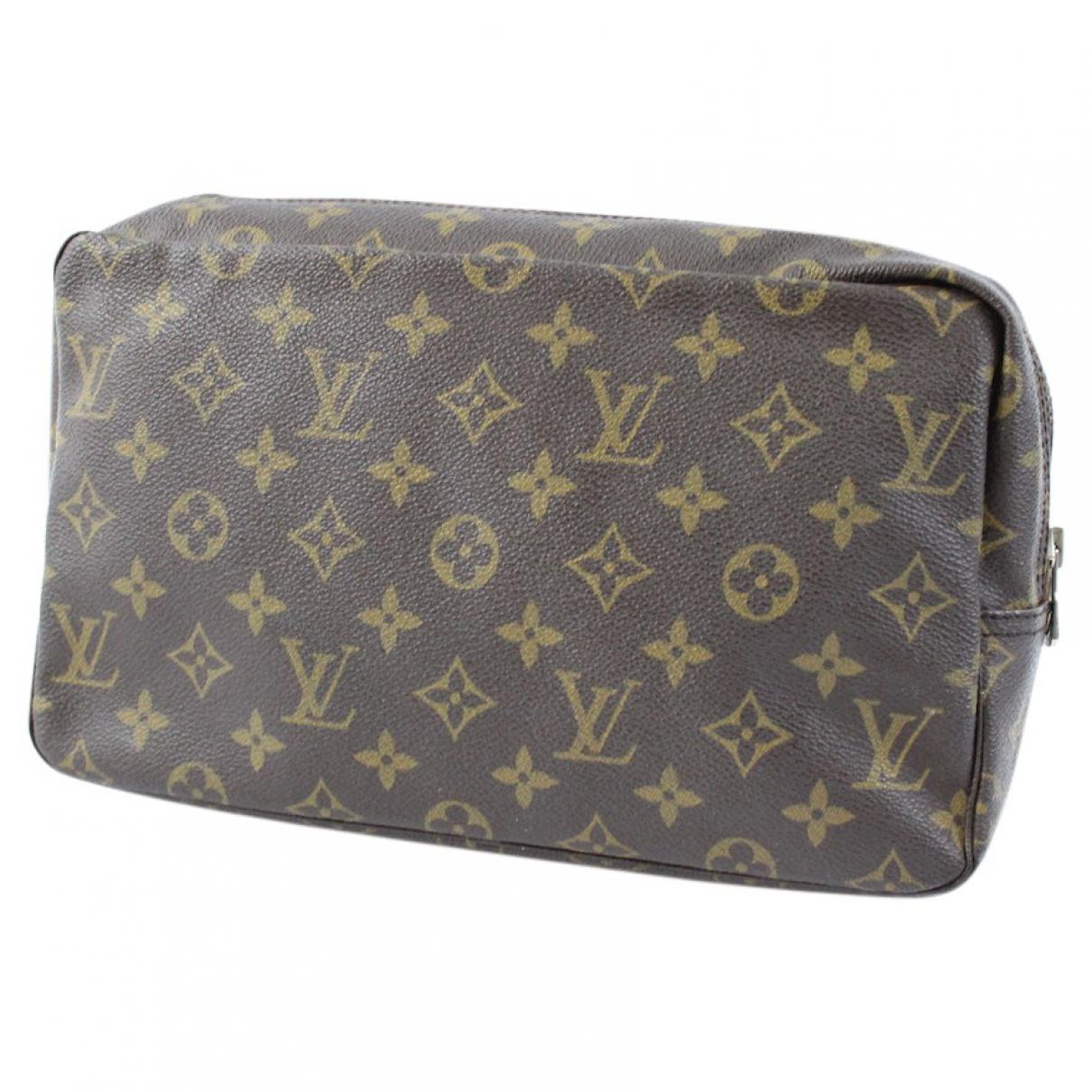 3e484d7e6e444 Louis Vuitton Pre-owned Cloth Vanity Case in Brown - Lyst