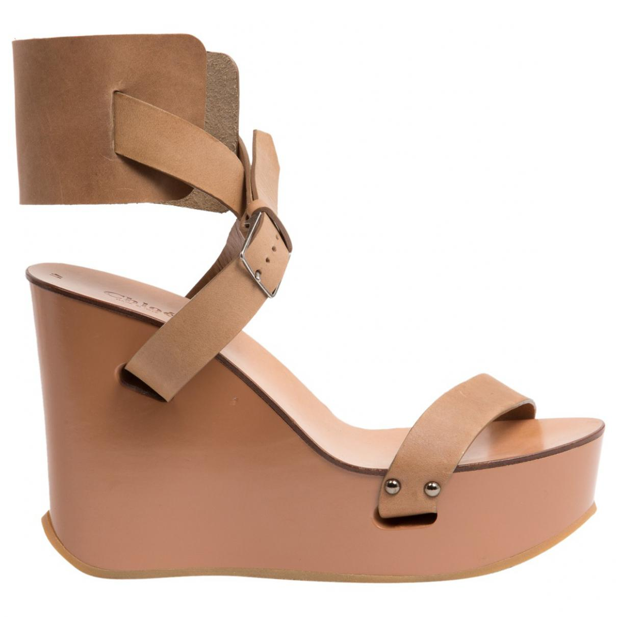 Pre-owned - Leather sandal Chlo Buy Cheap Visit New ta9PIQaEPr