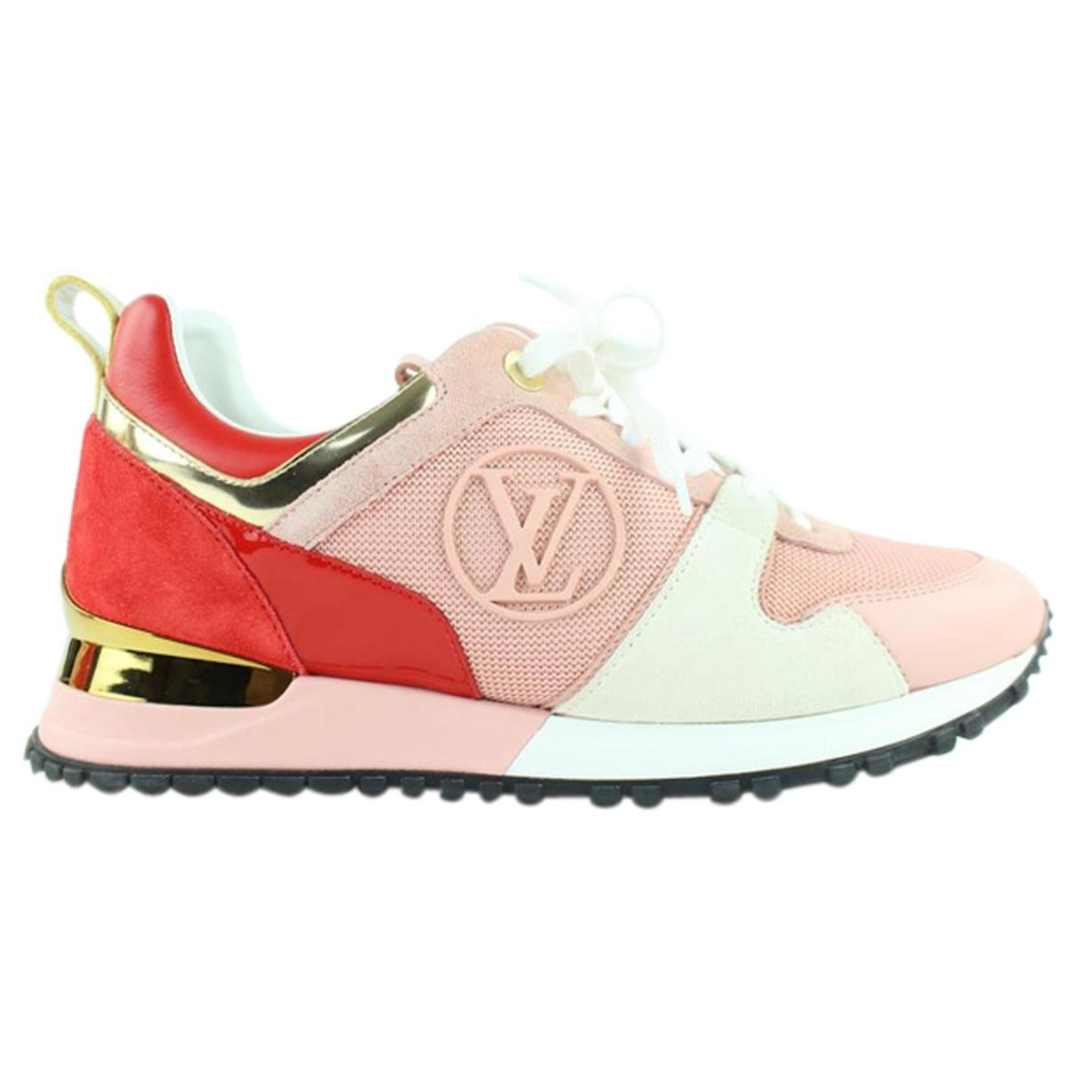 0dead347f0ab Louis Vuitton Run Away Leather Trainers in Pink - Lyst