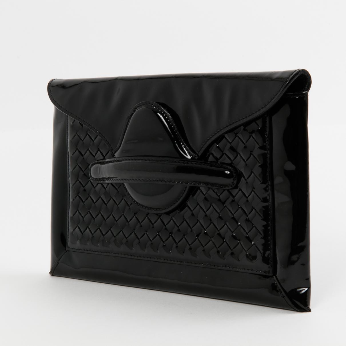 Bottega Veneta Pre-owned - Patent leather clutch bag bKuj07T