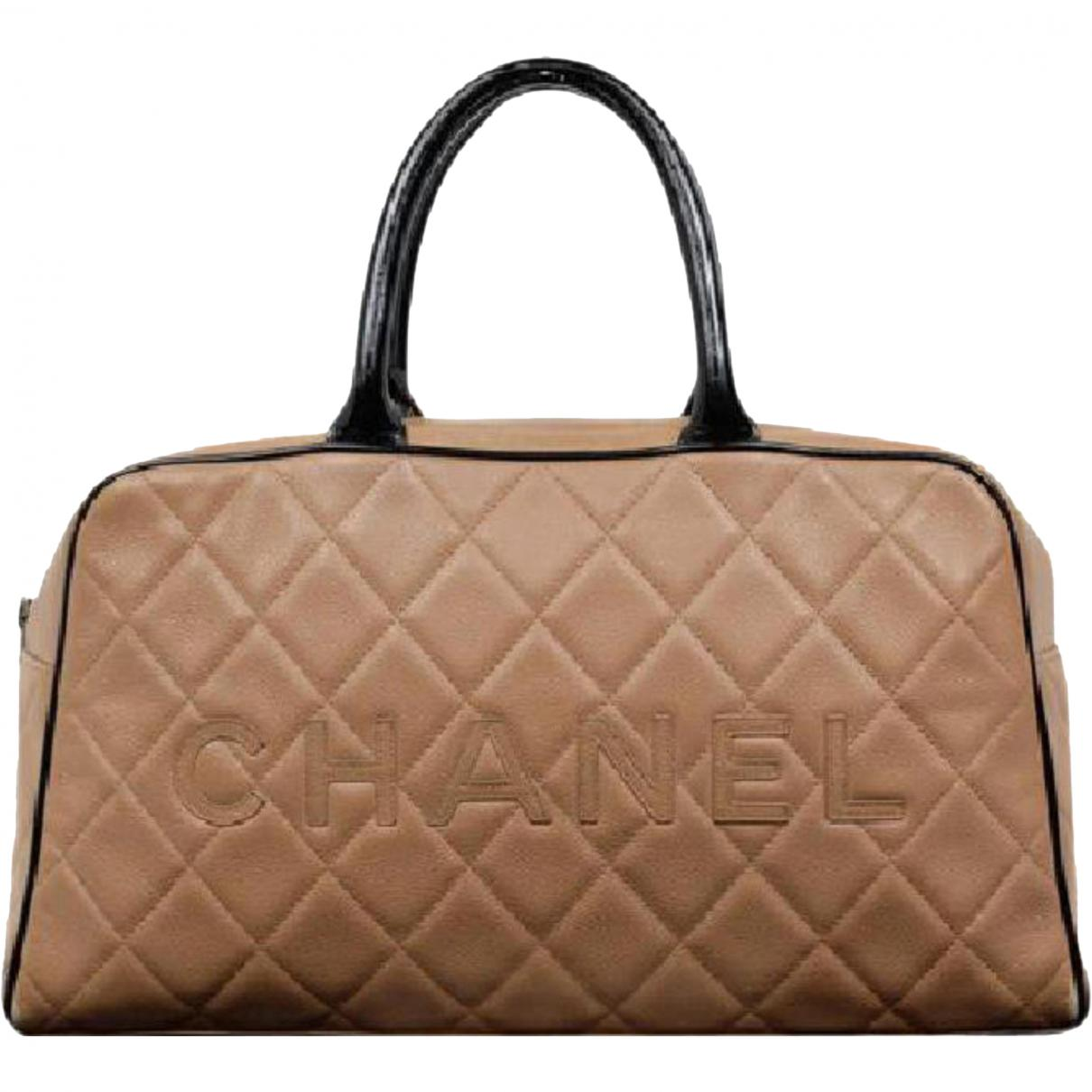 5adbac38e3c0 Lyst - Chanel Leather Satchel in Natural - Save 7%