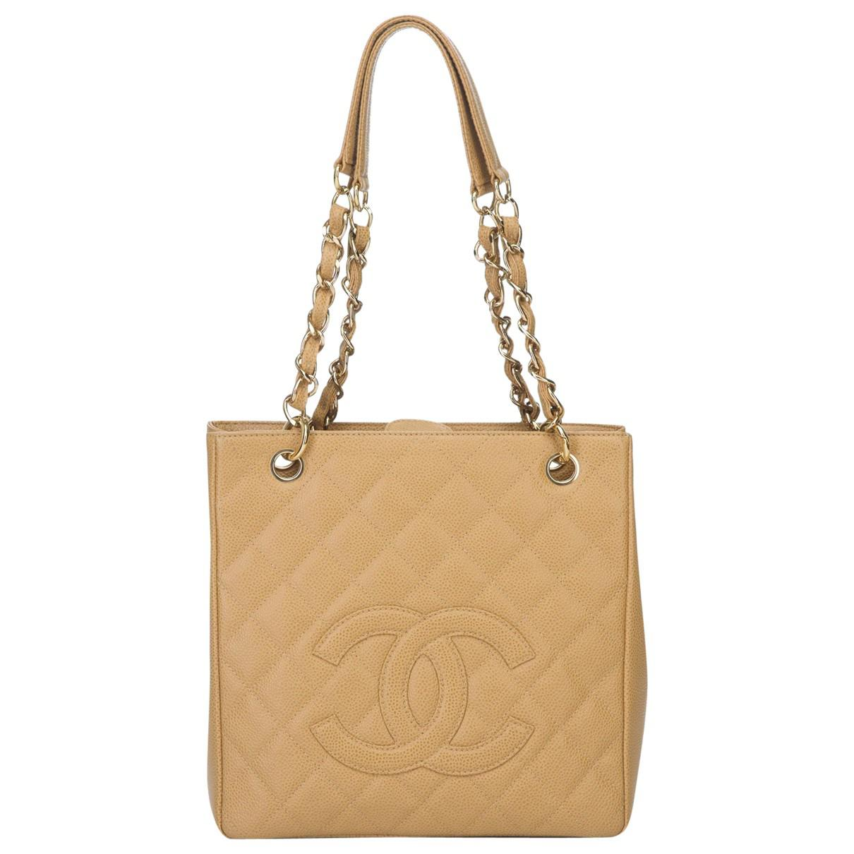 3e5c7decb73ae3 Lyst - Chanel Leather Tote