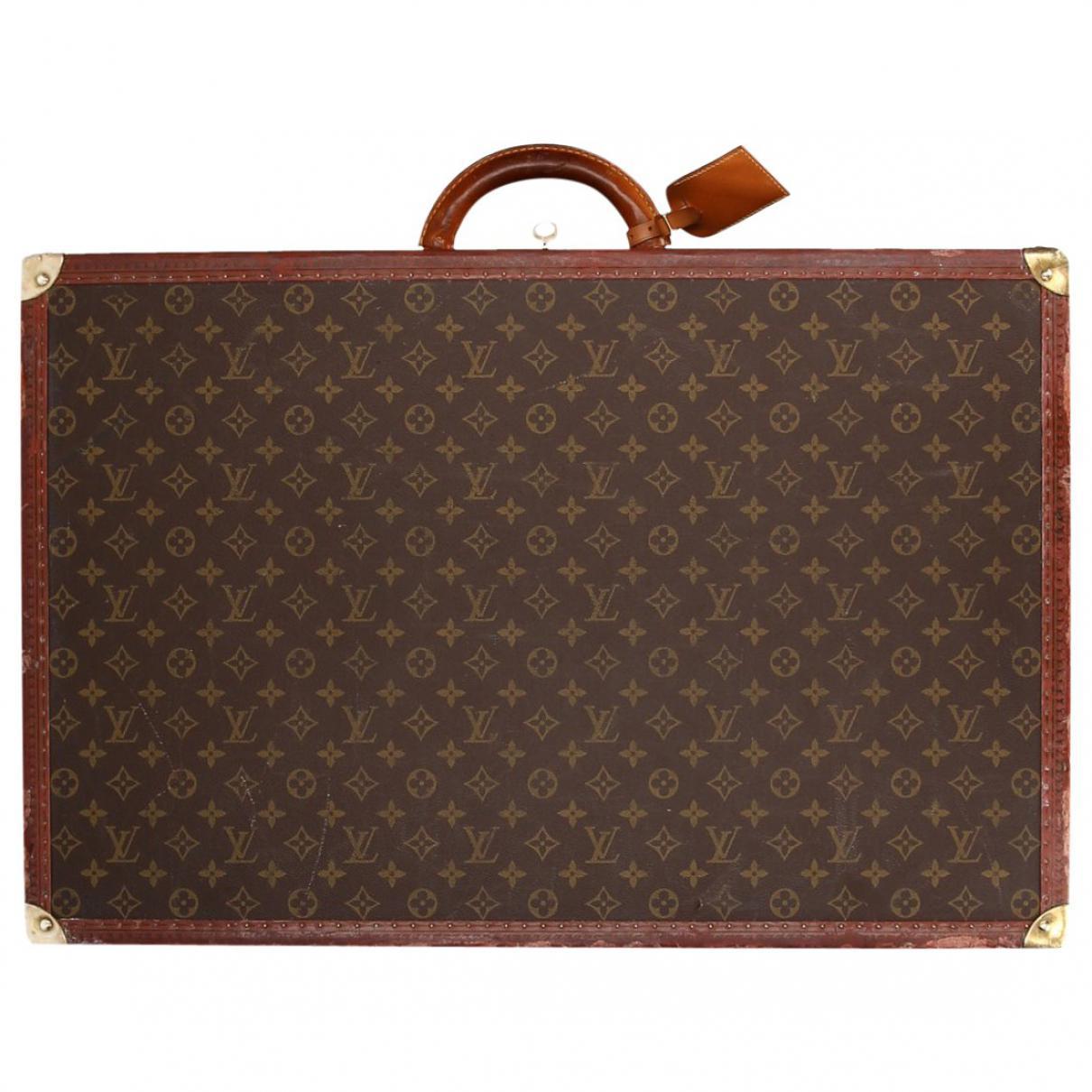 644bac663890 Lyst - Louis Vuitton Vintage Brown Cloth Travel Bag in Brown