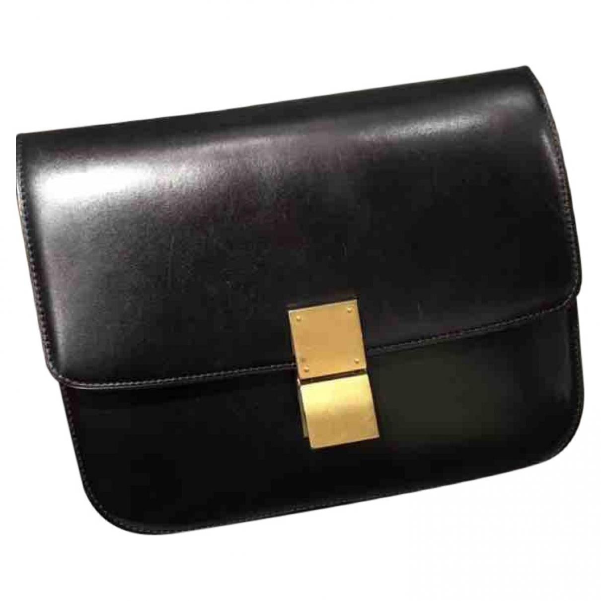 694543f636 Céline Classic Leather Handbag in Black - Lyst