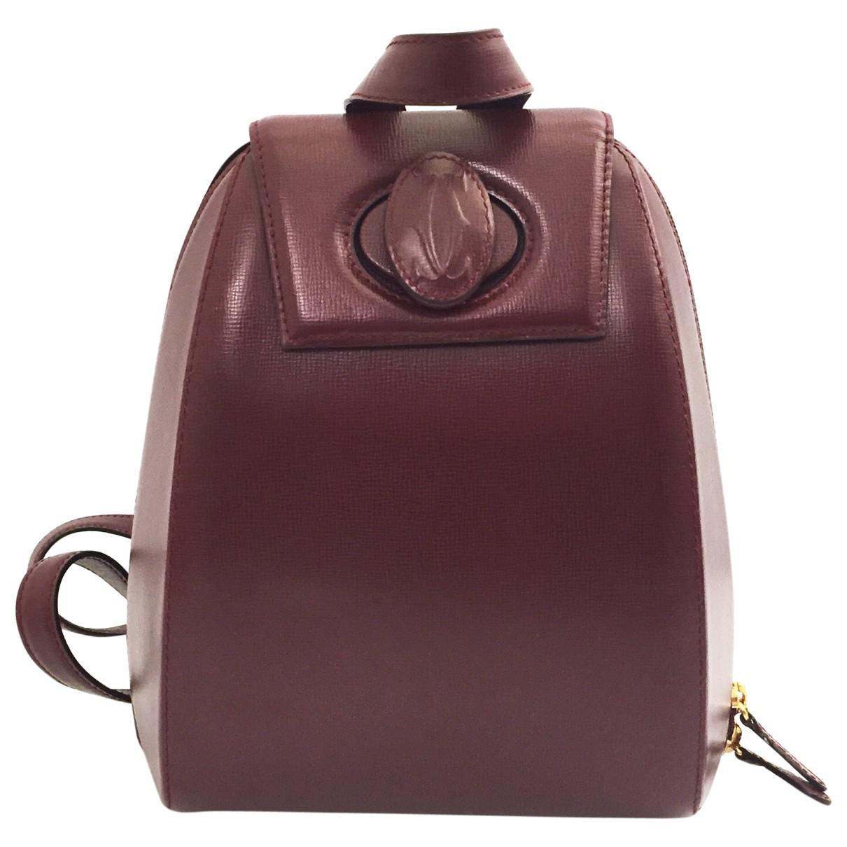 Cartier Pre-owned - Leather backpack El7kYKK