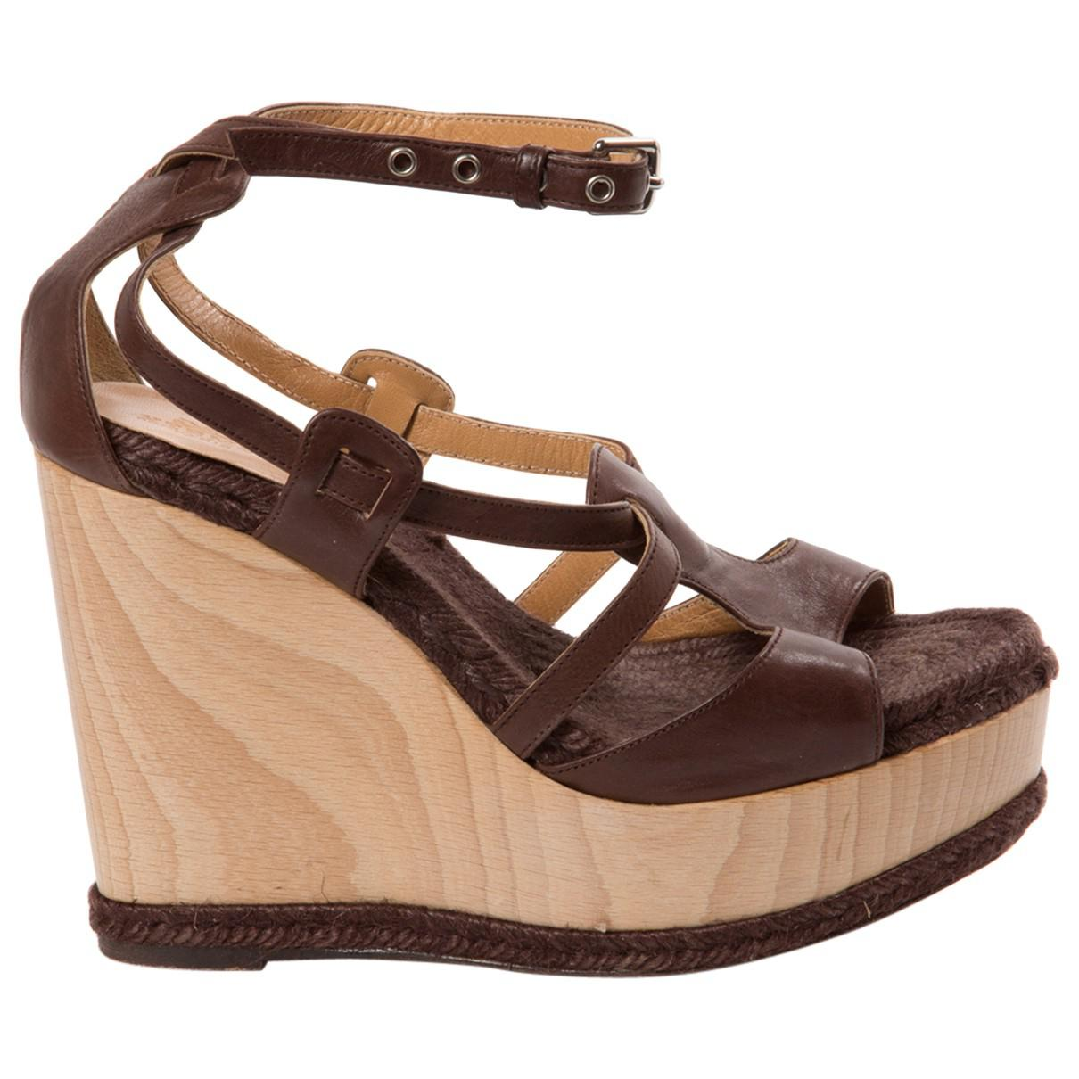 Pre-owned - Leather sandals Herm JSJT7oCRhI