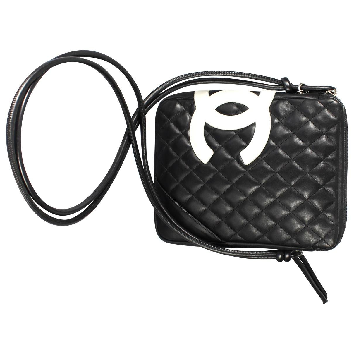 449feafba0c4 Lyst - Chanel Cambon Leather Crossbody Bag in Black