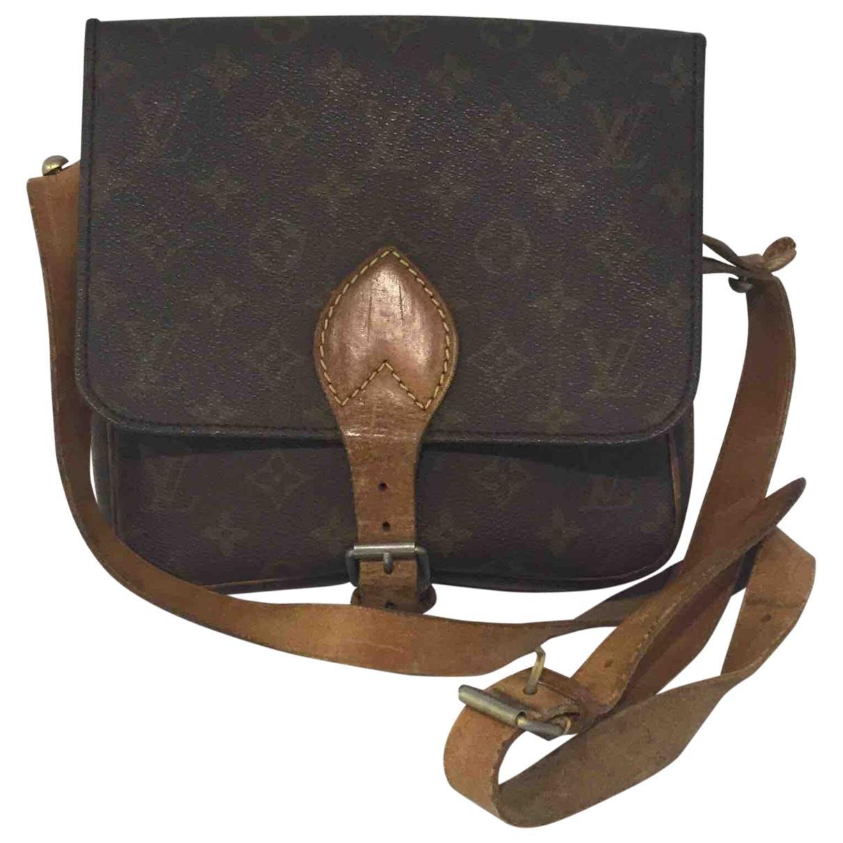 ffbfdf5f4f24 Lyst - Louis Vuitton Cloth Crossbody Bag in Brown