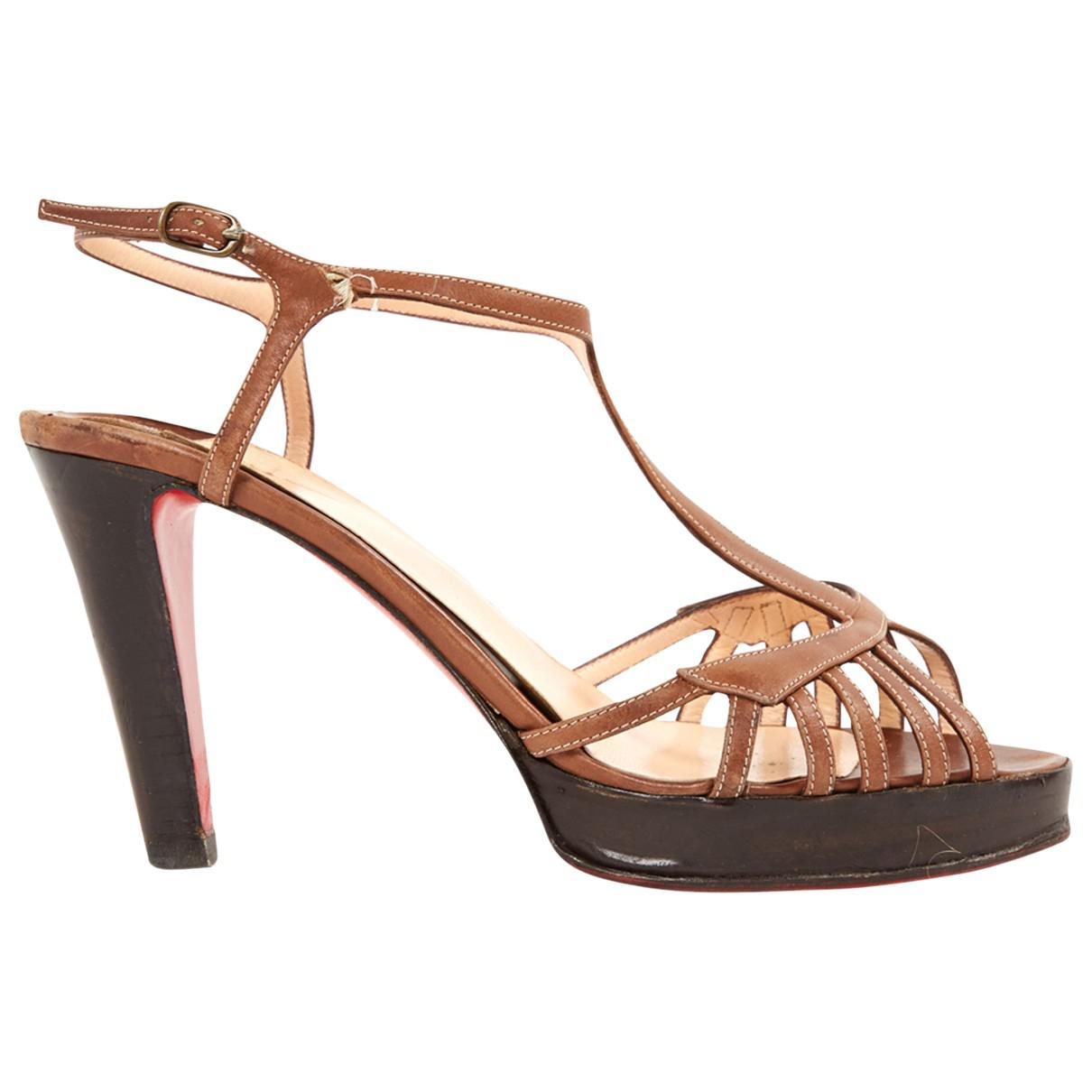 Pre-owned - Leather sandals Christian Louboutin V4RxGqv