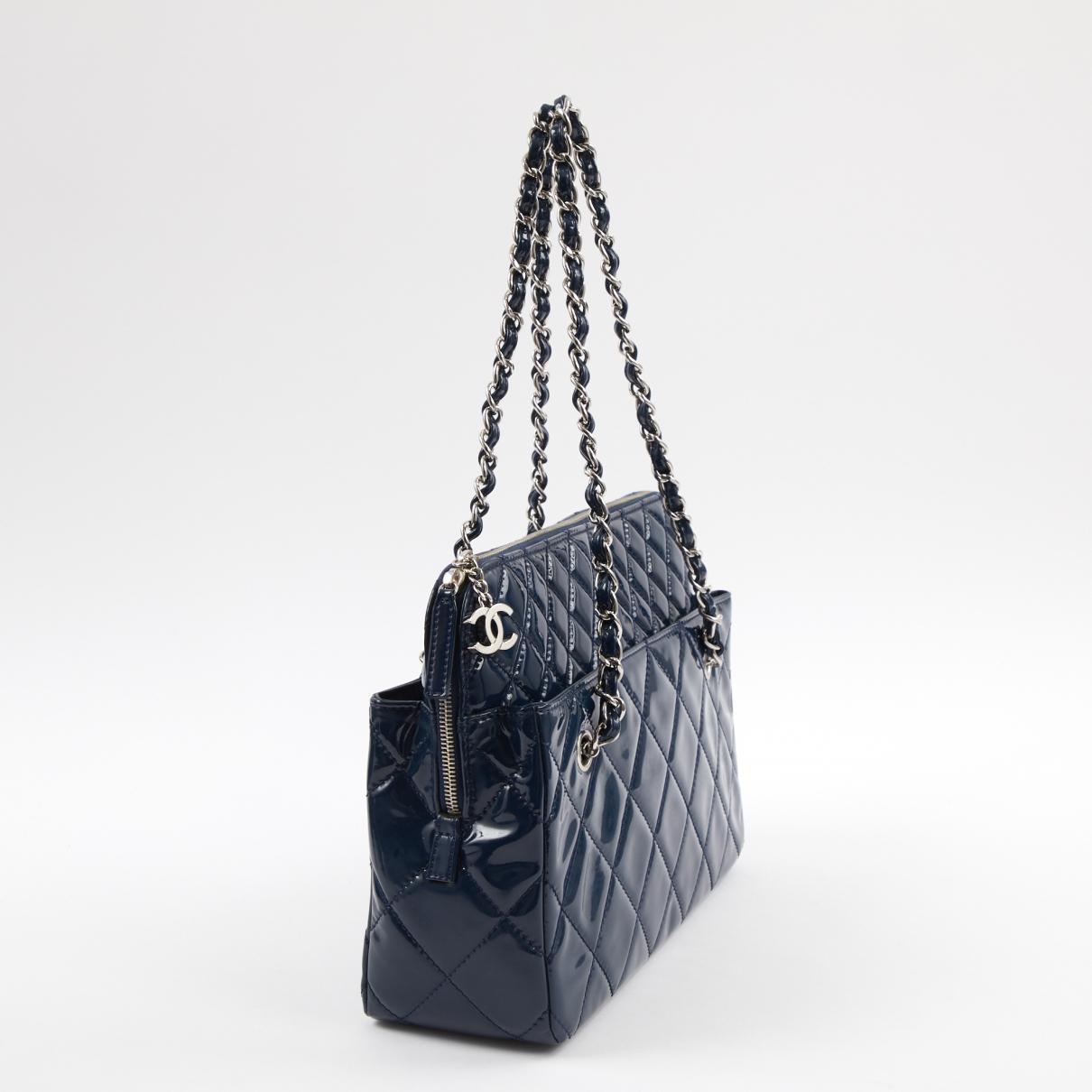 Chanel - Blue Patent Leather Handbag - Lyst. View fullscreen 2b0e3f236fa4f