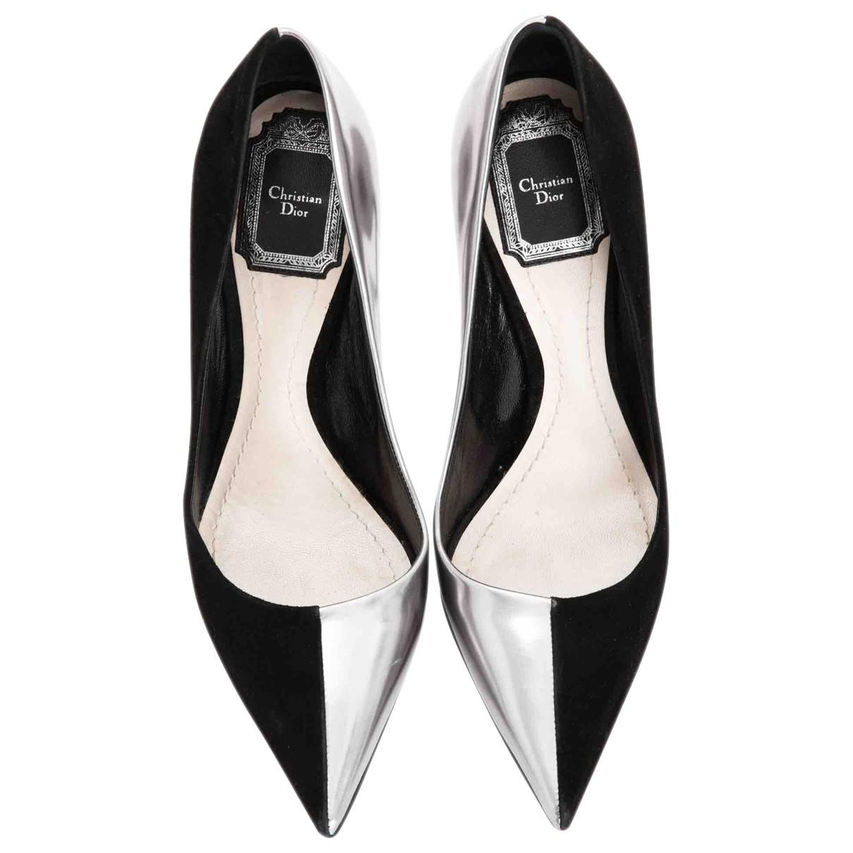e7378abfc3c Lyst - Dior Pre-owned Leather Heels in Black