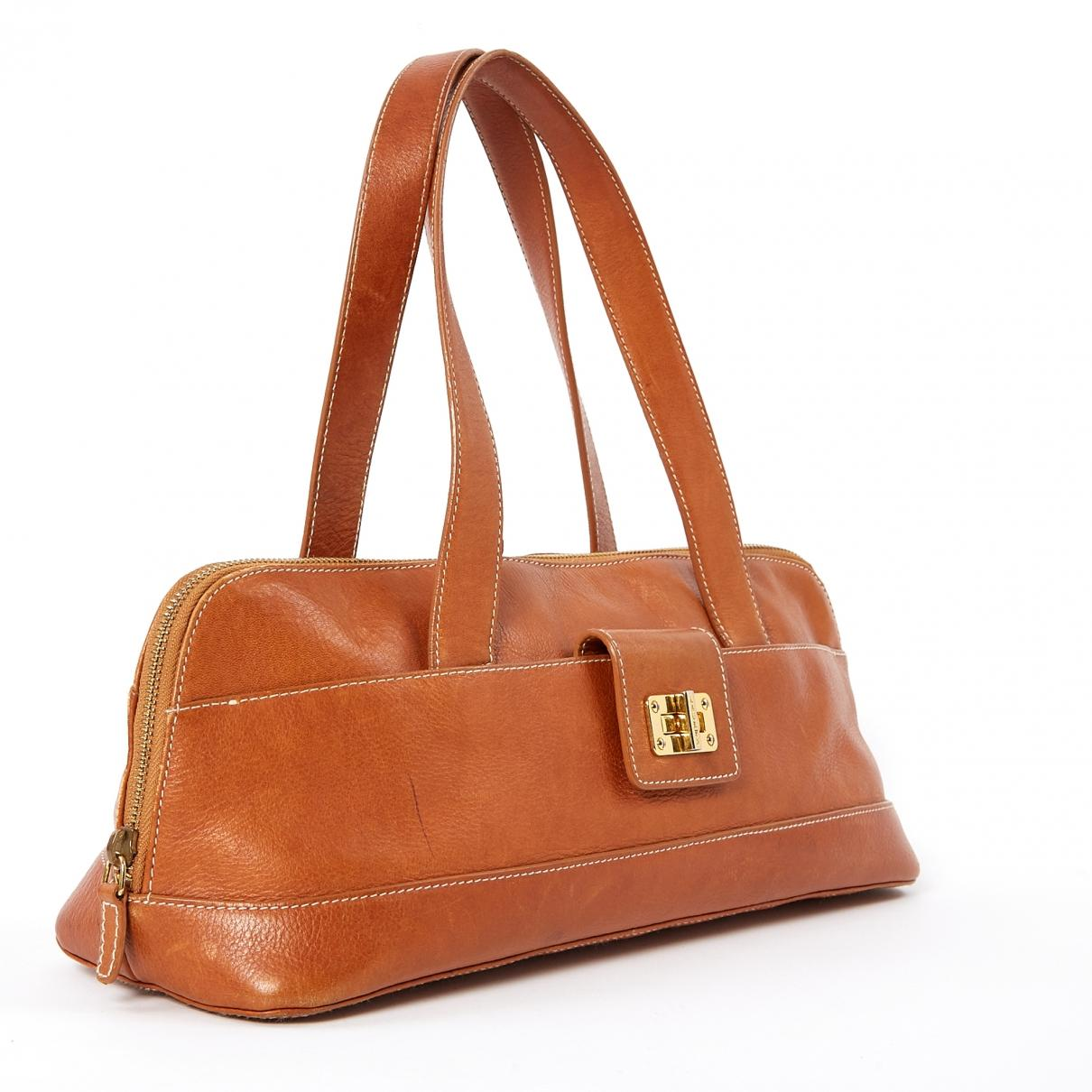 1812c0a9e6f0 Ralph Lauren Collection - Brown Leather Handbag - Lyst. View fullscreen