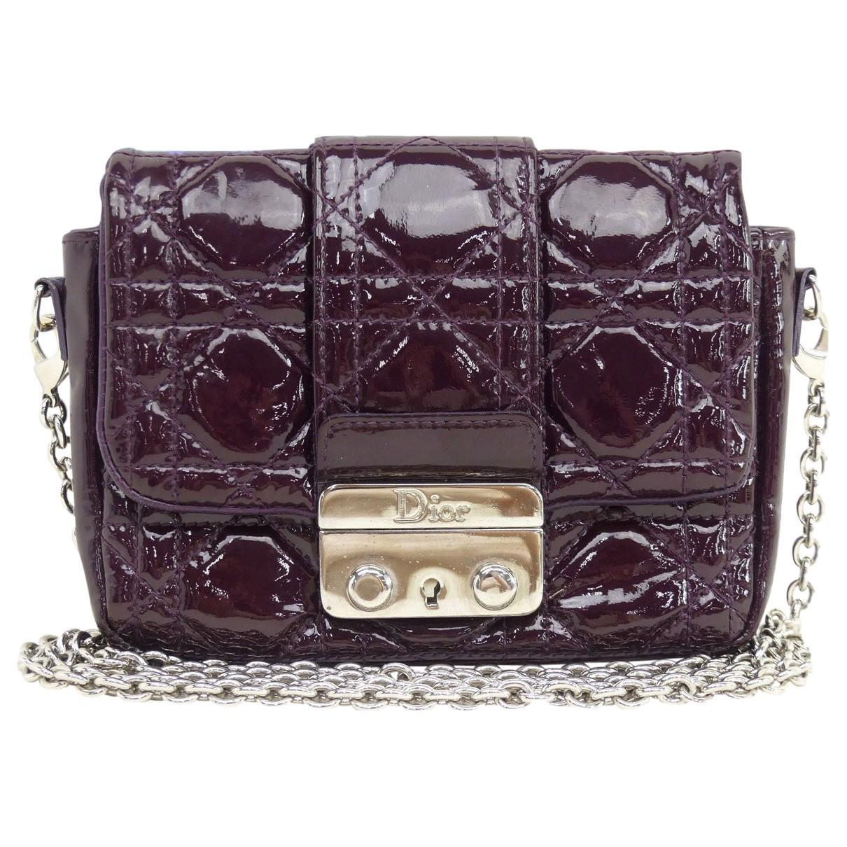 0e13dcf4ec7a Dior Miss Patent Leather Crossbody Bag in Purple - Lyst