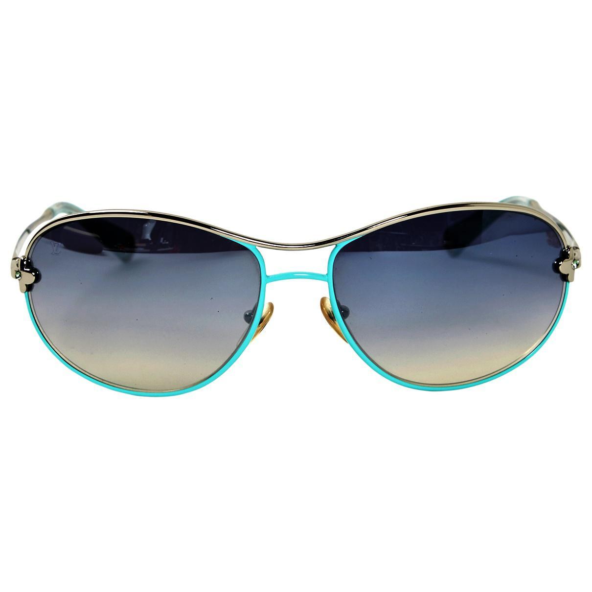 c3d4d84230f Lyst - Lunettes Louis Vuitton en coloris Bleu