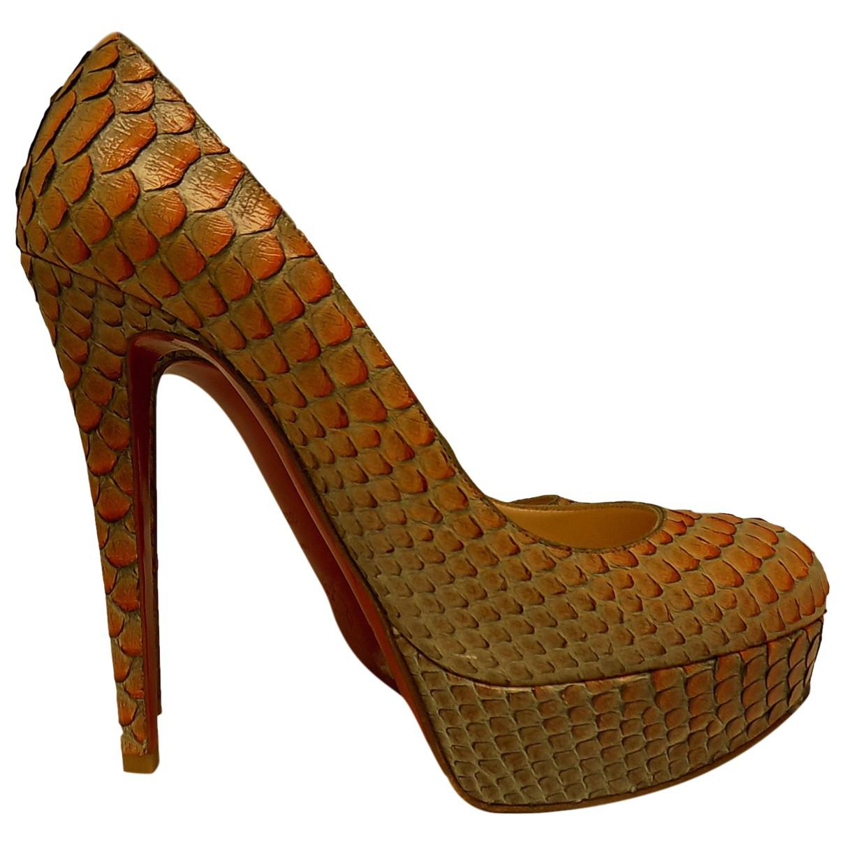 Pre-owned - Exotic leathers sandal Christian Louboutin FgV7IS