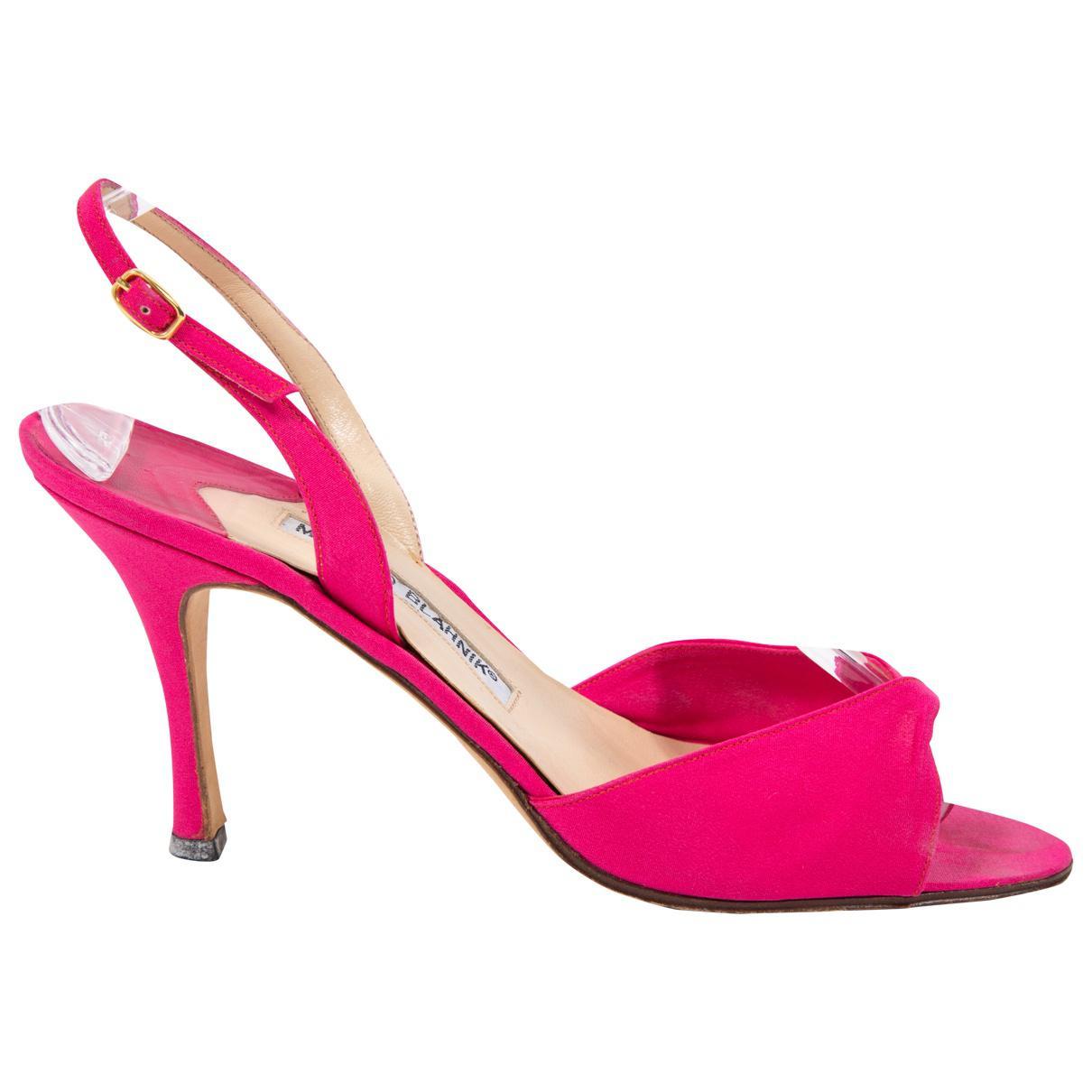 Pre-owned - Cloth sandal Manolo Blahnik SL5Lhosl