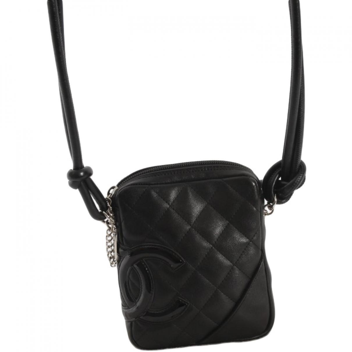 6195ddd007c047 Chanel Pre-owned Cambon Crossbody Bag in Black - Lyst