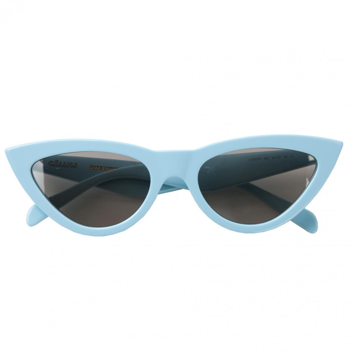 abf63a13ca Céline Pre-owned Sunglasses in Blue - Lyst