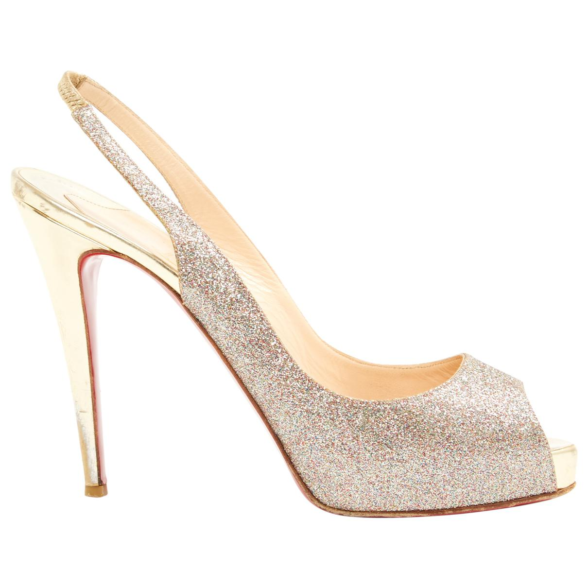 9ebb12d3f539 Lyst - Christian Louboutin Pre-owned Private Number Glitter Heels in ...