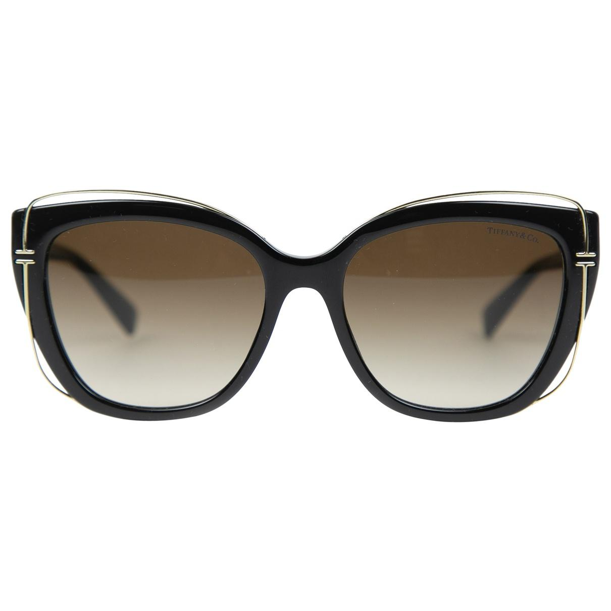 b6978b60862 Lyst - Tiffany   Co. Oversized Sunglasses in Black