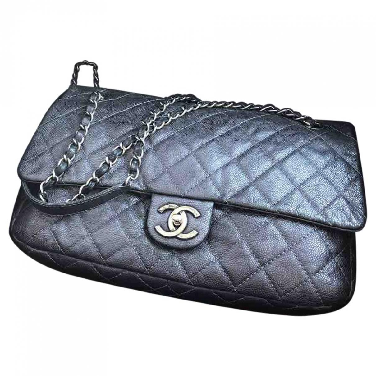 cd97ac0840bb Lyst - Chanel Timeless Leather Handbag in Black