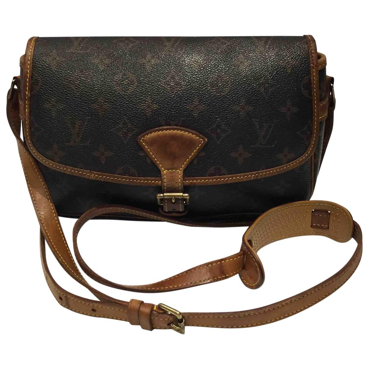 efee5aa1bddf Lyst - Louis Vuitton Pre-owned Sologne Cloth Crossbody Bag in Brown