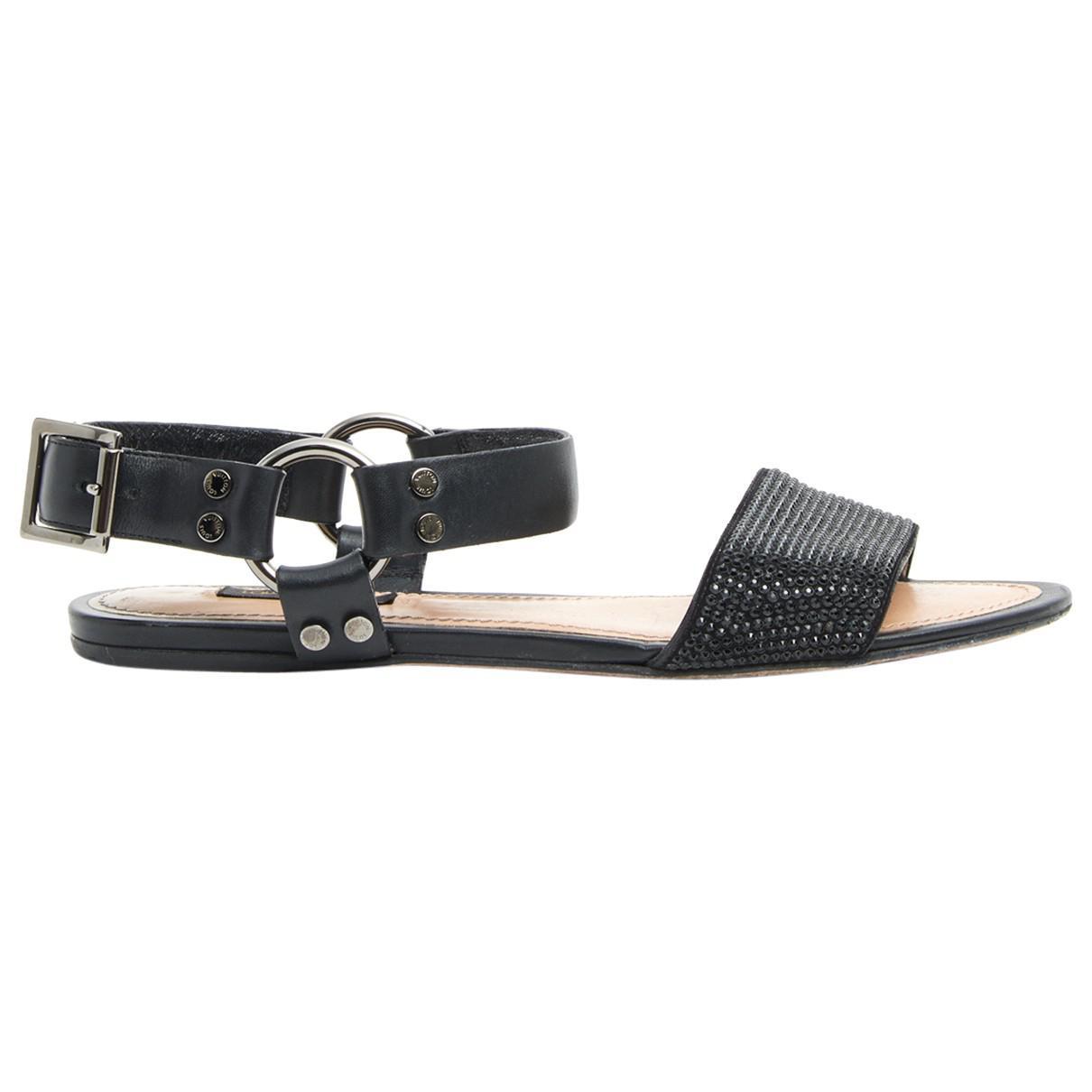 1415e5f55d2a Louis Vuitton. Women s Black Leather Sandals.  326 From Vestiaire Collective