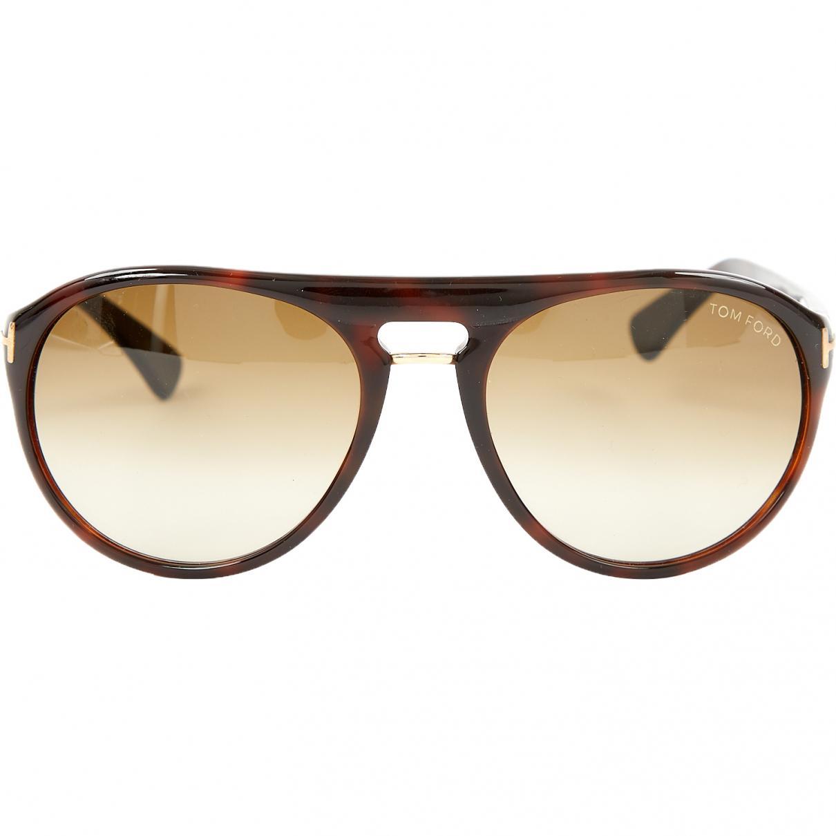 8894aeb7f443 Tom Ford - Brown Sunglasses for Men - Lyst. View fullscreen