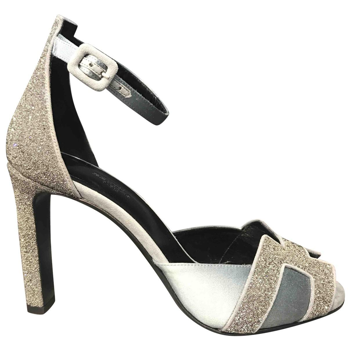 d586a05f66fb Lyst - Hermès Première Glitter Sandals in Gray
