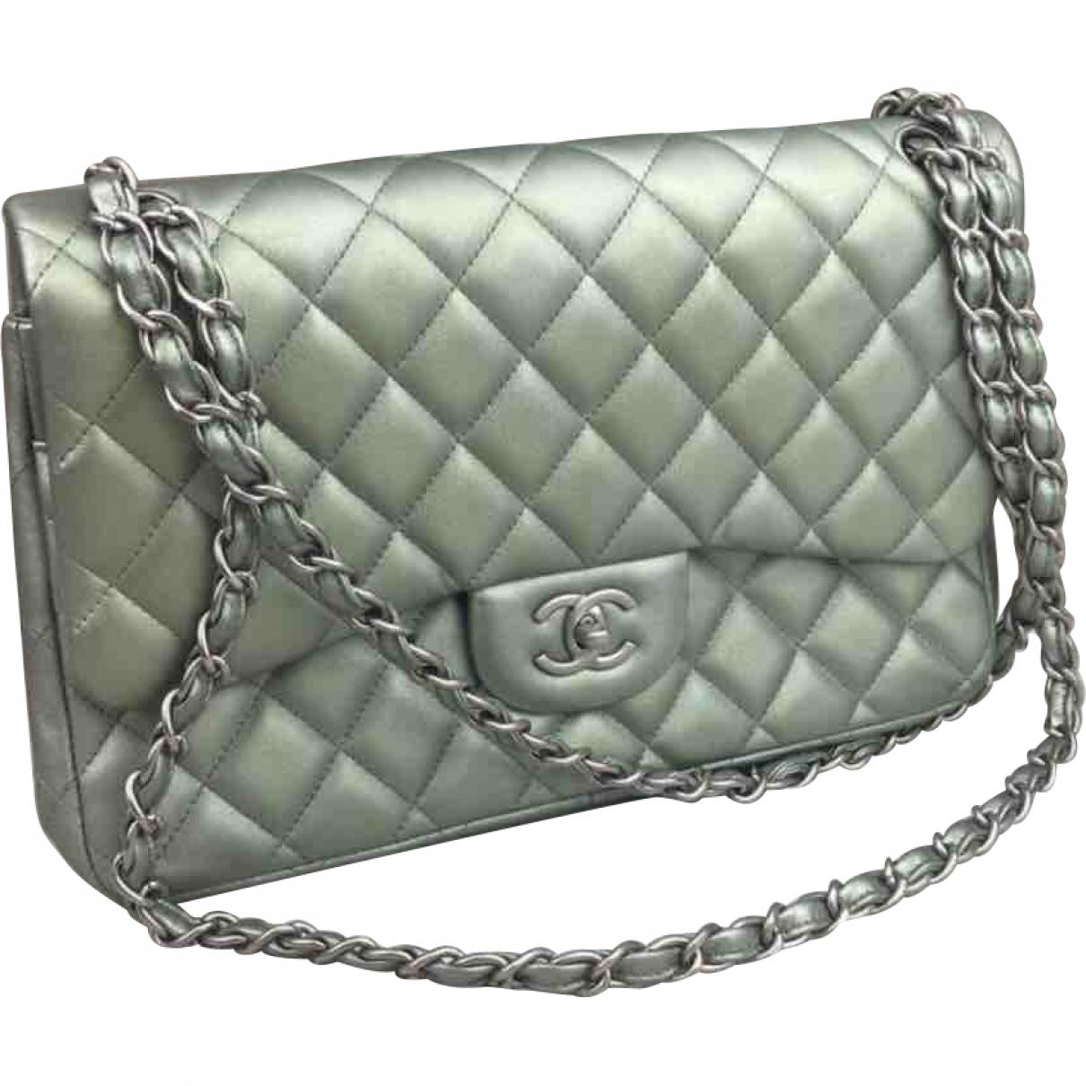 5f81f345873d Chanel Timeless Leather Handbag in Green - Lyst