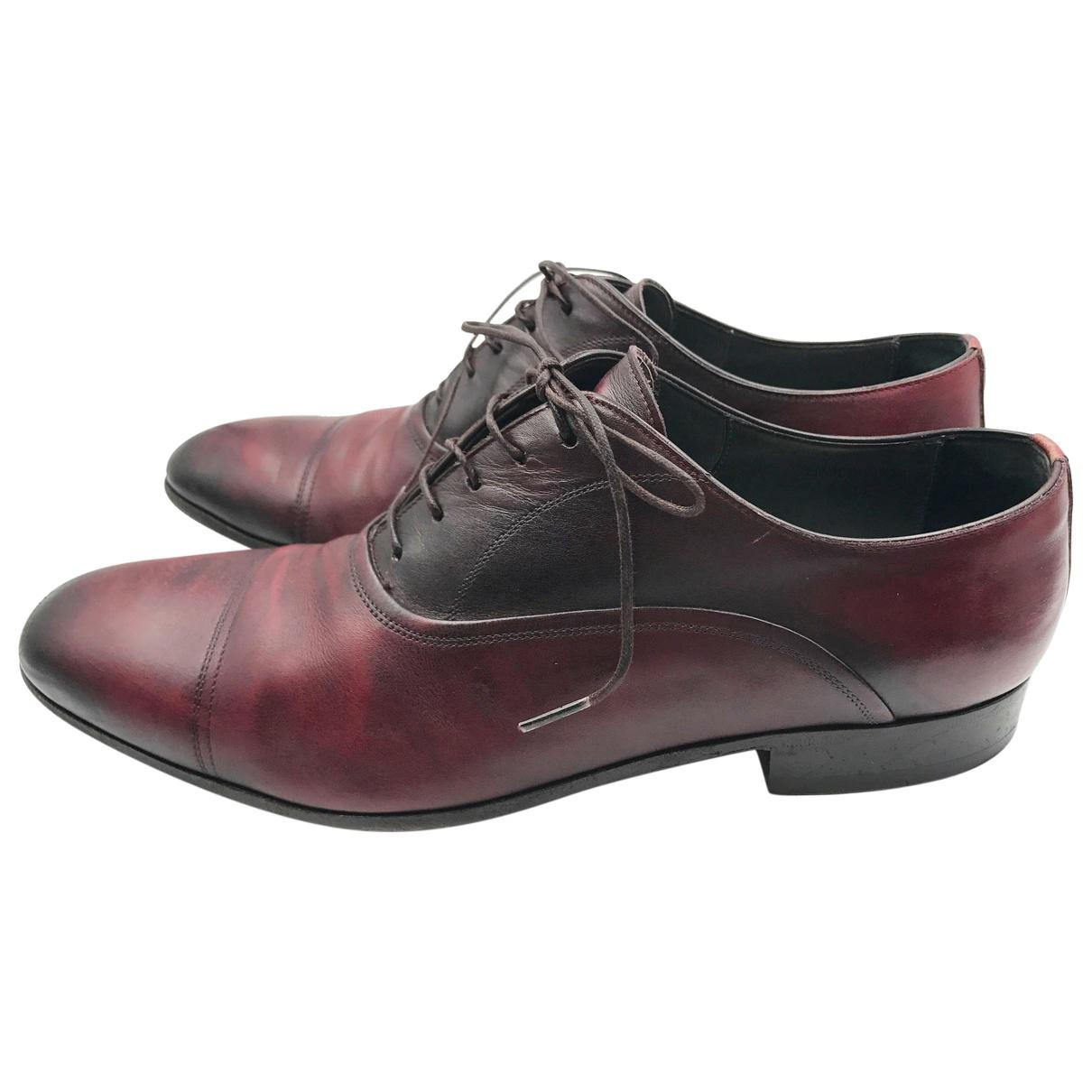 Pre-owned - Leather lace ups Lanvin ozym878sd