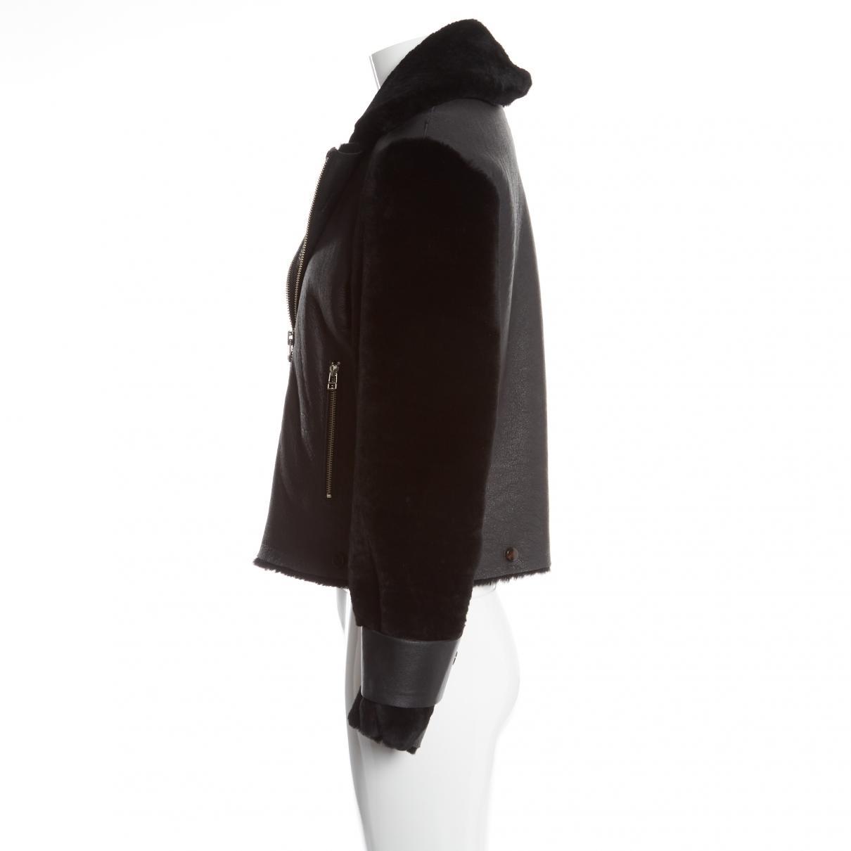 e177417e152 By Malene Birger Pre-owned Black Shearling Jackets in Black - Lyst