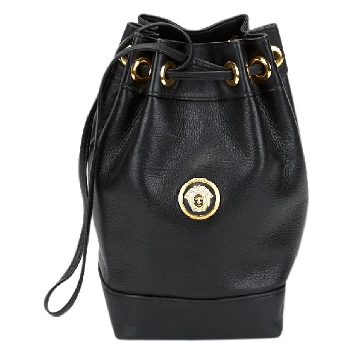 e7ecd9024827 Versace Leather Handbag in Black - Lyst