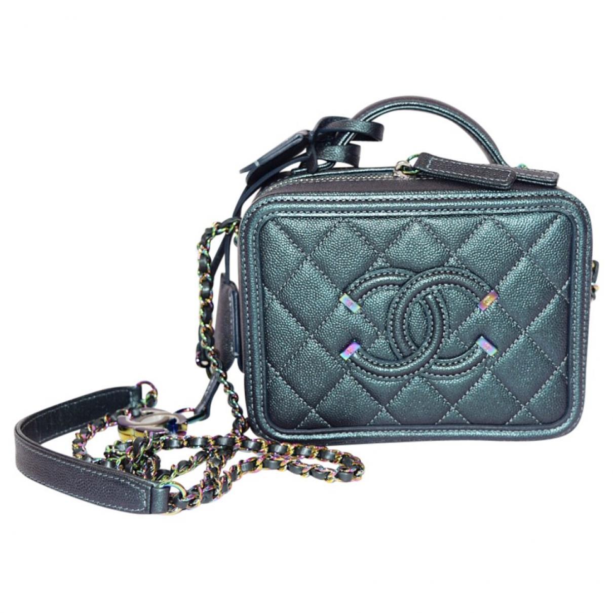 c7c50675217c Chanel. Women s Blue Vanity Turquoise Exotic Leather Handbag. £4