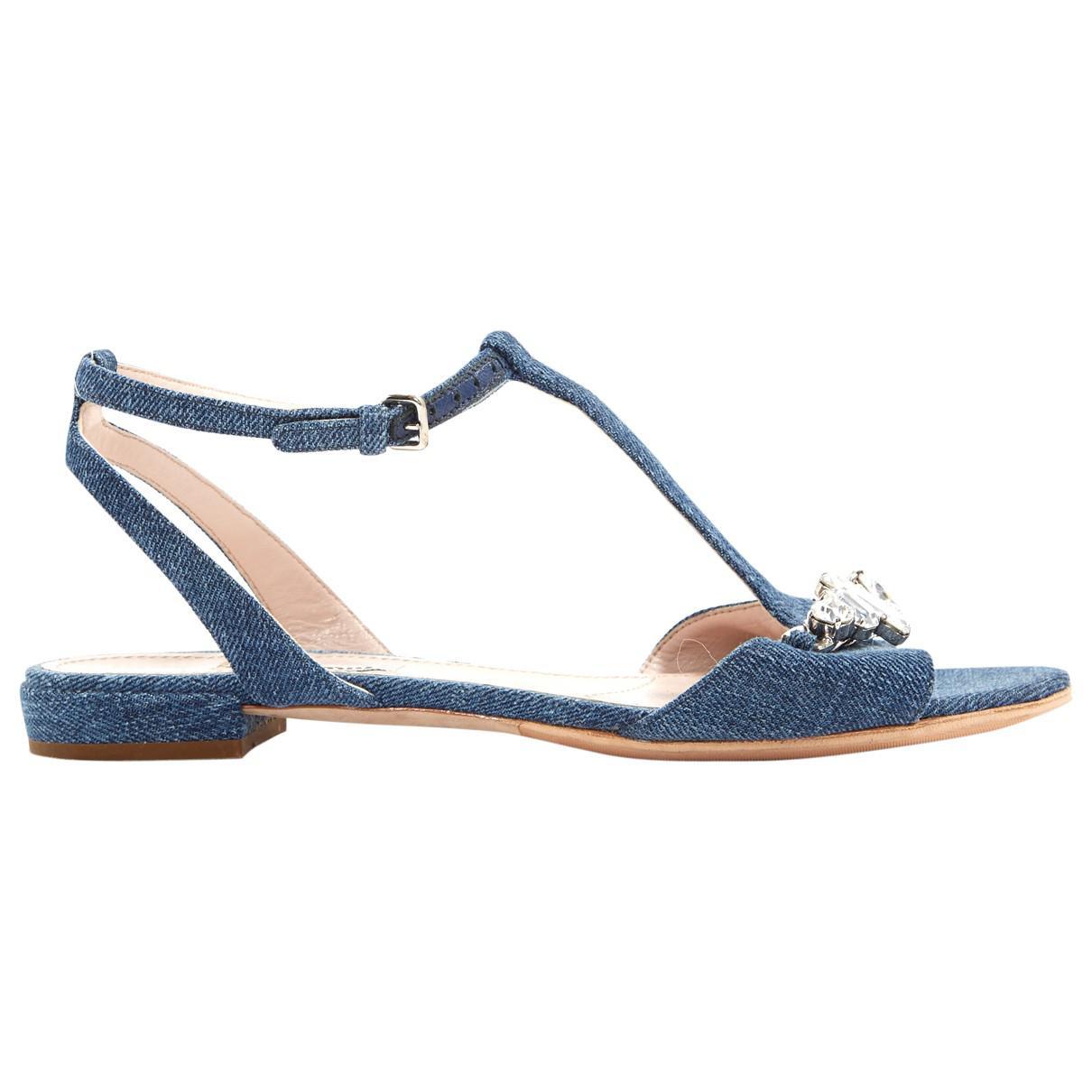 Pre-owned - Cloth sandal Miu Miu YgQU7Aik1