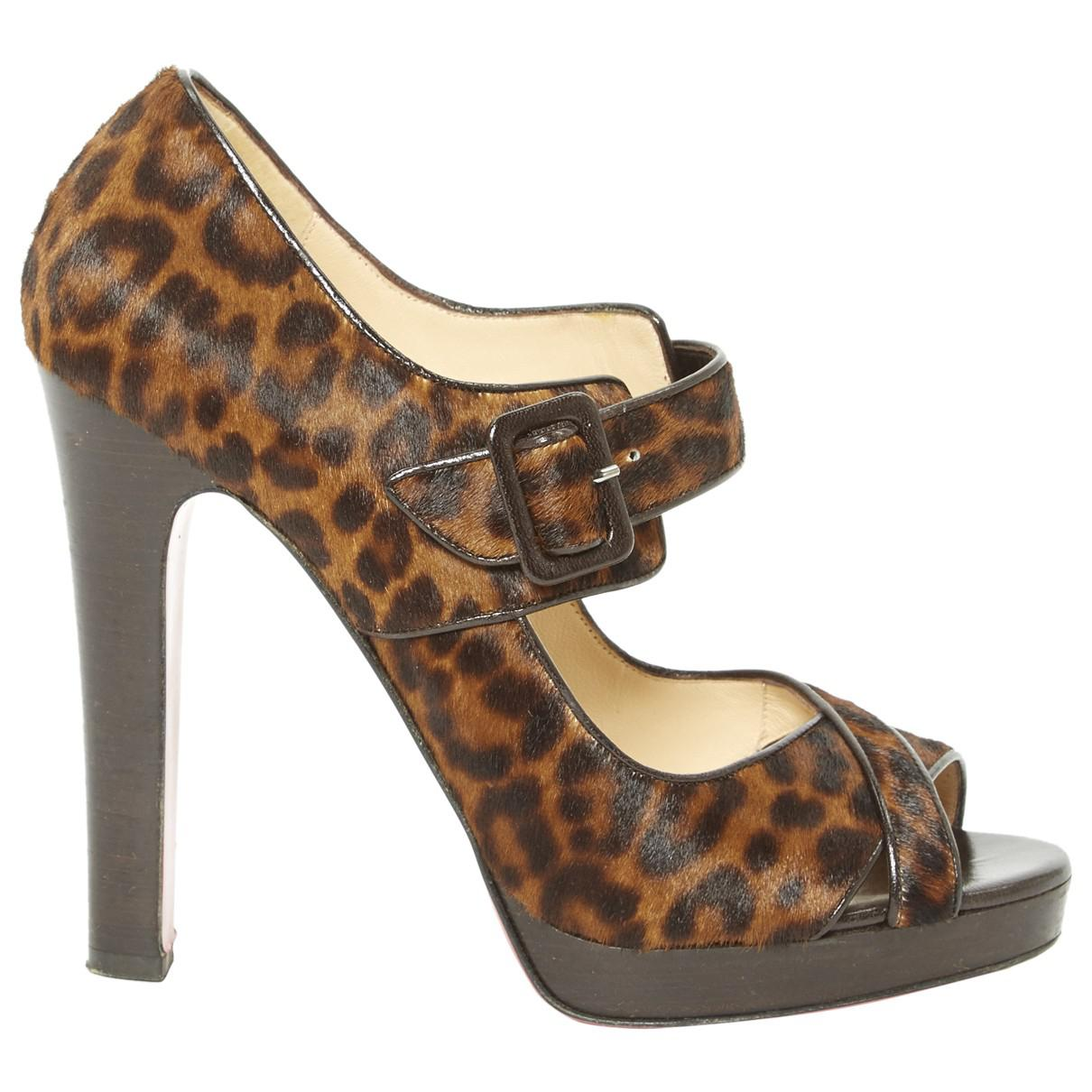 Pre-owned - Pony-style calfskin sandal Christian Louboutin