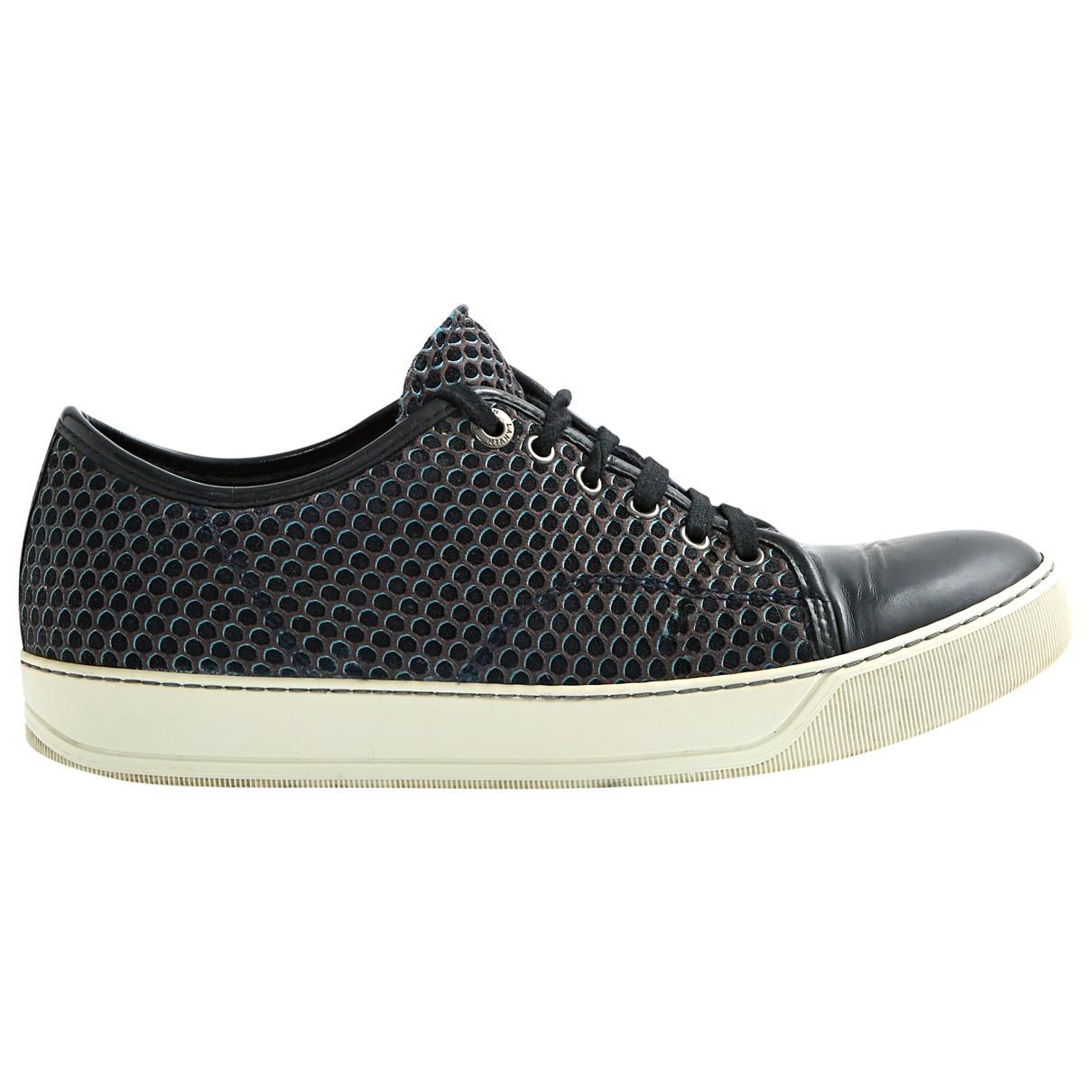 Pre-owned - Leather low trainers Lanvin kcMf2fFD
