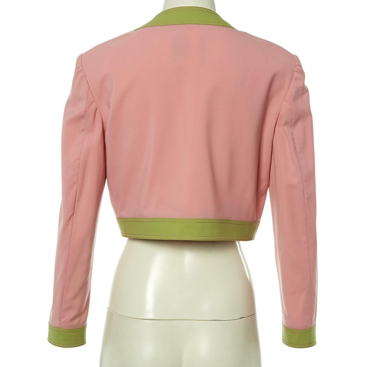 2fd1f73c3 Moschino Pink Wool Jacket in Pink - Lyst