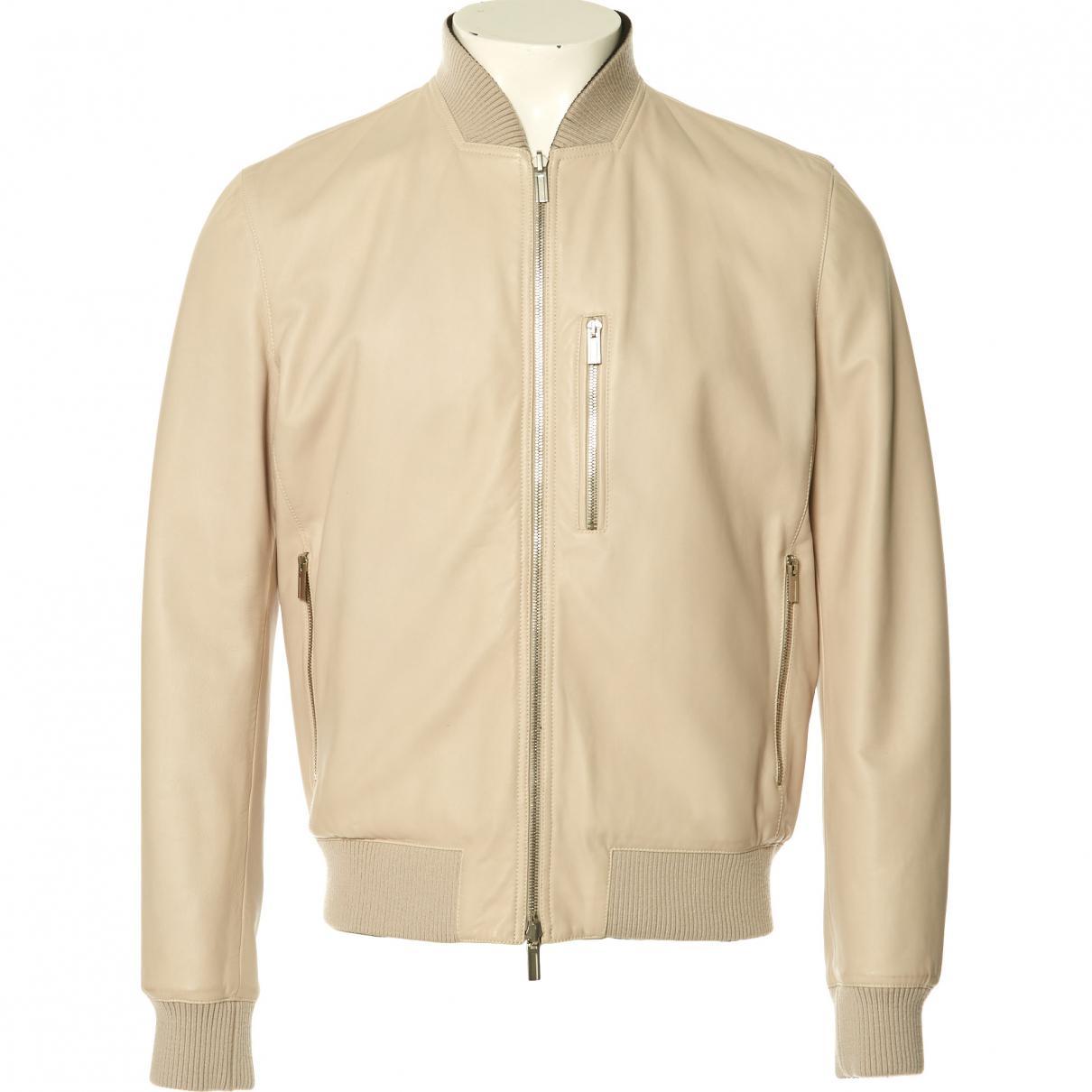 35eb40b70e5 Lyst - Blouson en cuir Hermès pour homme en coloris Neutre