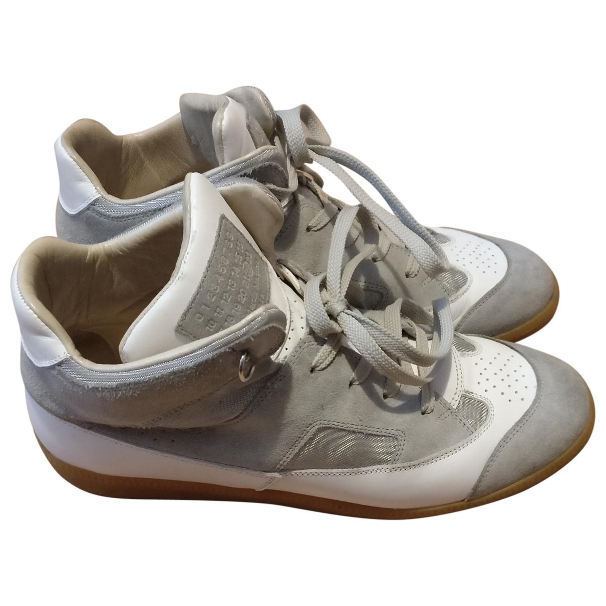 Pre-owned - Leather high trainers Maison Martin Margiela