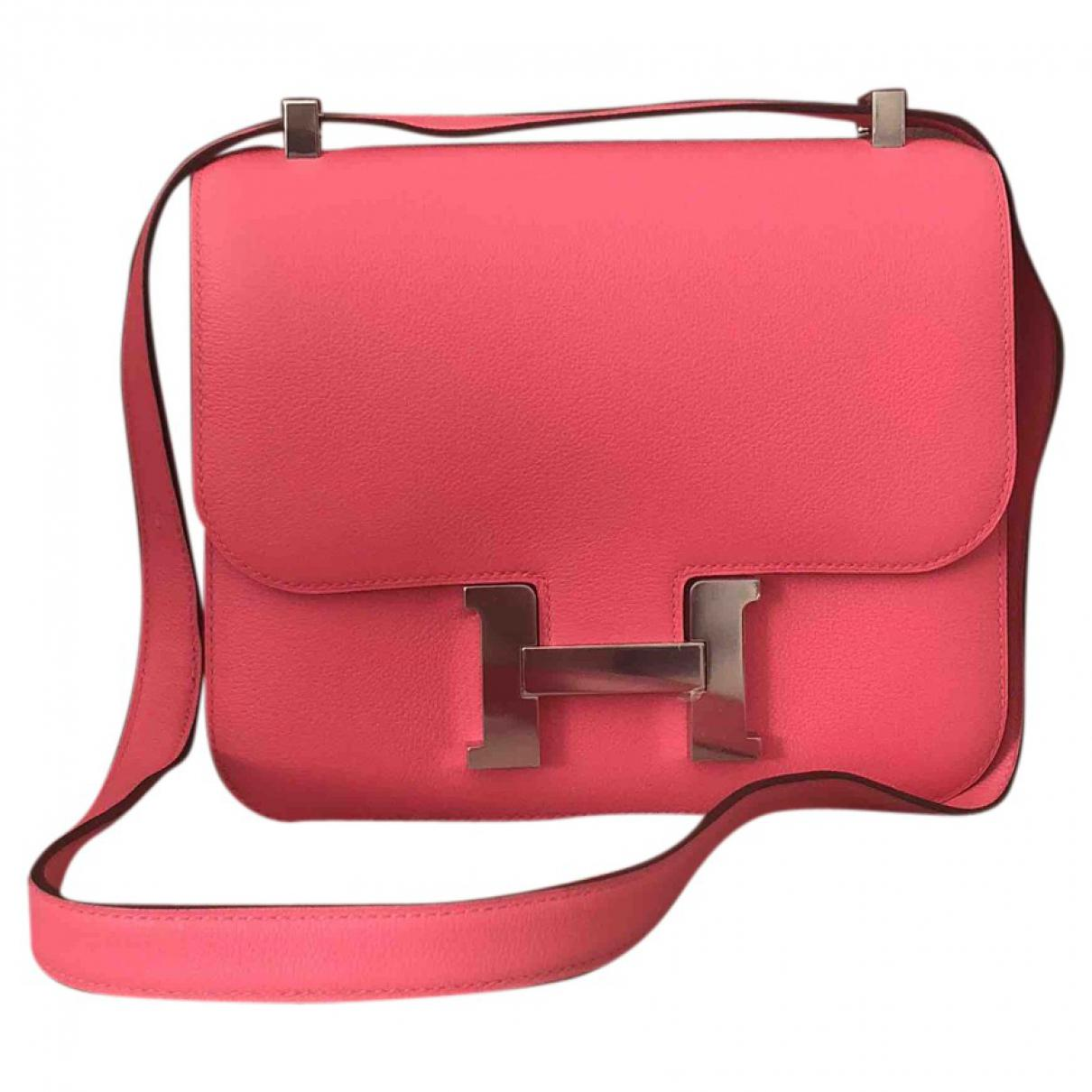 ae46dcb663 ... coupon code for lyst hermès pre owned constance leather crossbody bag  in pink 012ee 8c8f7